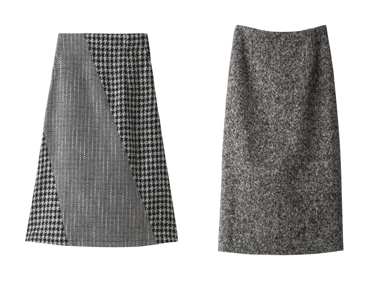 【BLAMINK/ブラミンク】のウールホームスパンタイトスカート&【Ezick/エジック】のツイードキリカエフレアスカート スカートのおすすめ!人気、レディースファッションの通販 おすすめで人気のファッション通販商品 インテリア・家具・キッズファッション・メンズファッション・レディースファッション・服の通販 founy(ファニー) https://founy.com/ ファッション Fashion レディース WOMEN スカート Skirt Aライン/フレアスカート Flared A-Line Skirts ロングスカート Long Skirt シンプル ツイード ビスチェ フレア ロング 秋冬 A/W Autumn/ Winter ジャケット セットアップ |ID:crp329100000001183