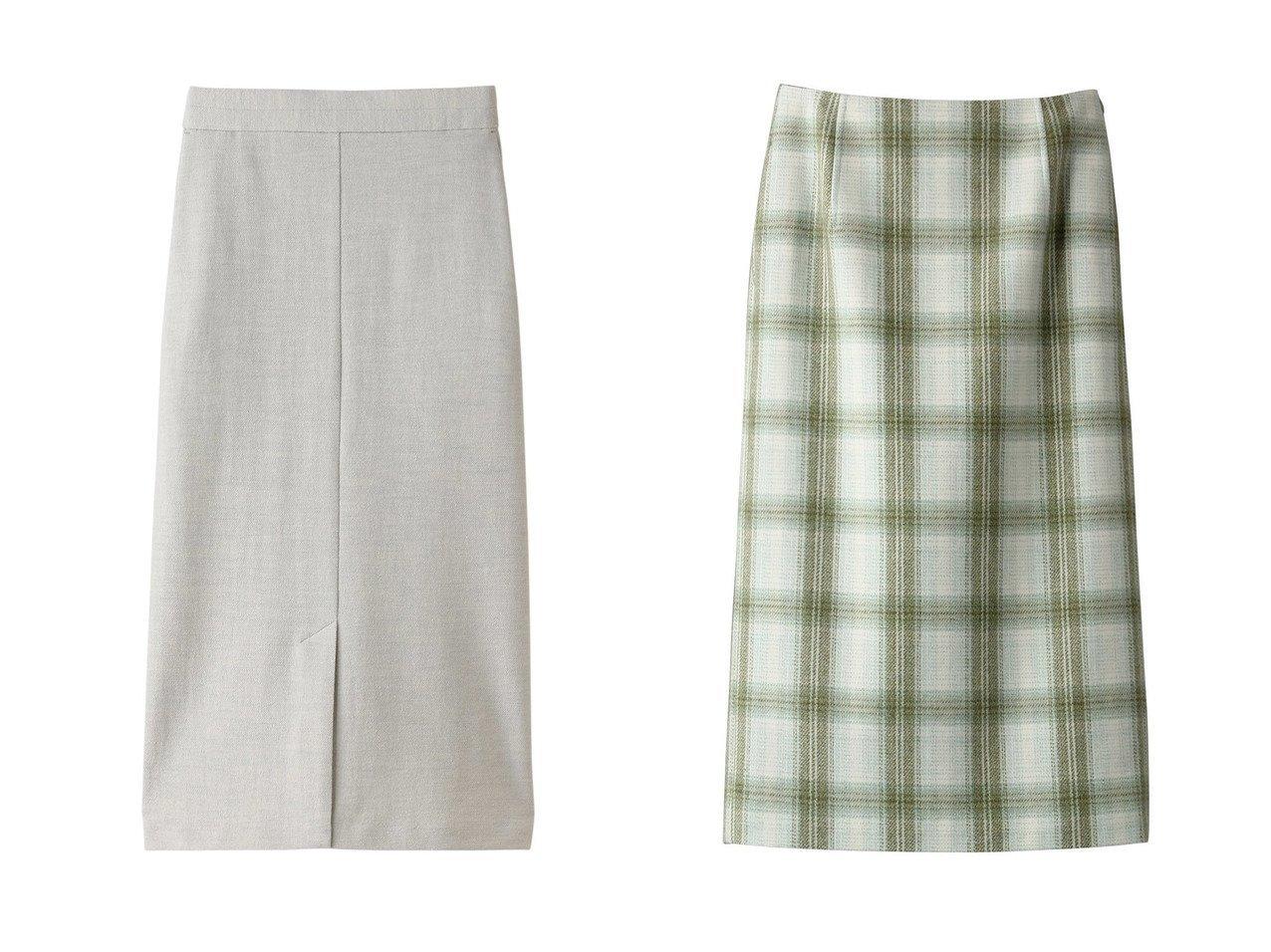 【Chaos/カオス】のCRツイルジャージースカート&【BLAMINK/ブラミンク】のウールチェックタイトスカート スカートのおすすめ!人気、レディースファッションの通販 おすすめで人気のファッション通販商品 インテリア・家具・キッズファッション・メンズファッション・レディースファッション・服の通販 founy(ファニー) https://founy.com/ ファッション Fashion レディース WOMEN スカート Skirt ロングスカート Long Skirt ロング 人気 カットソー タートルネック チェック |ID:crp329100000001185