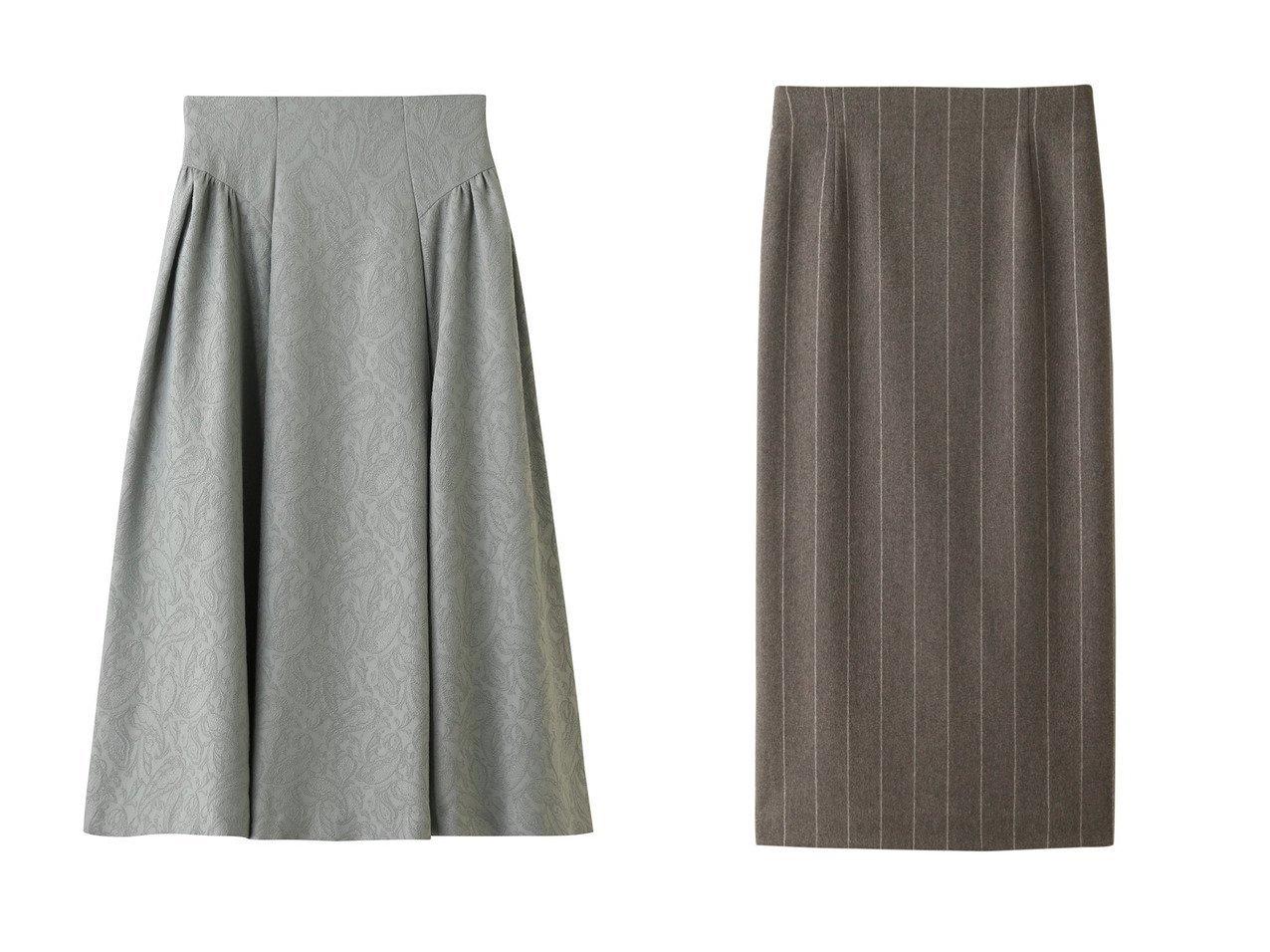 【LANVIN en Bleu/ランバン オン ブルー】のペイズリージャカード スカート&【ebure/エブール】のワイドストライプフランネル タイトロングスカート スカートのおすすめ!人気、レディースファッションの通販 おすすめで人気のファッション通販商品 インテリア・家具・キッズファッション・メンズファッション・レディースファッション・服の通販 founy(ファニー) https://founy.com/ ファッション Fashion レディース WOMEN スカート Skirt ロングスカート Long Skirt ギャザー ジャカード ペイズリー ロング カシミヤ ストライプ ワイド 今季 |ID:crp329100000001187