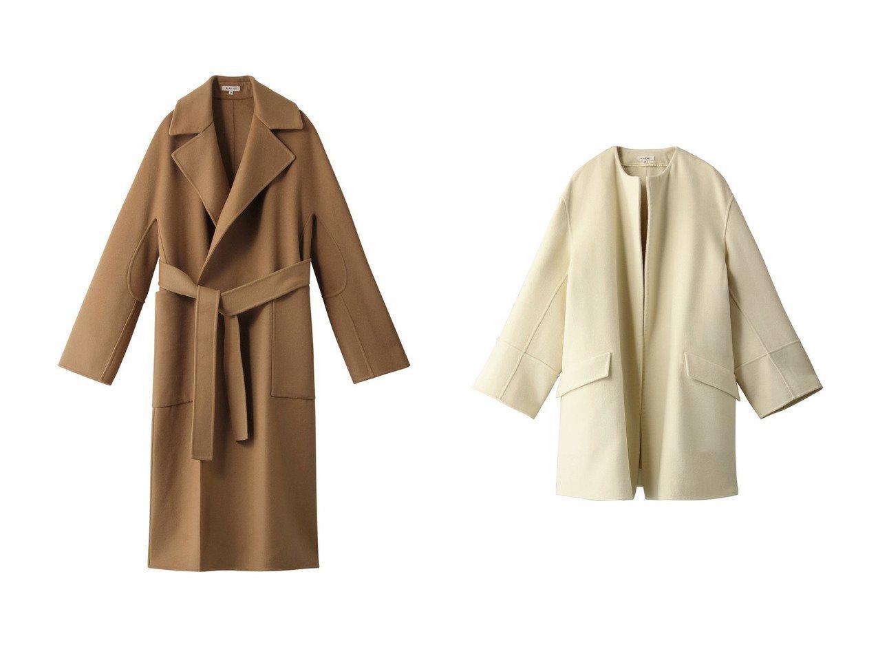 【BLAMINK/ブラミンク】のウールダブルフェイスノーカラーコート&ウールダブルフェイスラップコート アウターのおすすめ!人気、レディースファッションの通販 おすすめで人気のファッション通販商品 インテリア・家具・キッズファッション・メンズファッション・レディースファッション・服の通販 founy(ファニー) https://founy.com/ ファッション Fashion レディース WOMEN アウター Coat Outerwear コート Coats ラップ リラックス ロング 定番 フォルム |ID:crp329100000001239