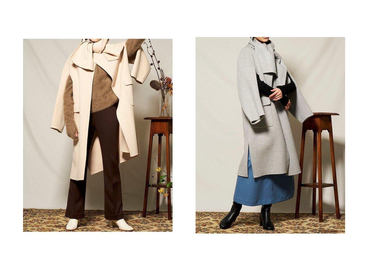 【MAISON SPECIAL/メゾンスペシャル】のマフラー付きスリーブアウトコート アウターのおすすめ!人気、レディースファッションの通販 おすすめで人気のファッション通販商品 インテリア・家具・キッズファッション・メンズファッション・レディースファッション・服の通販 founy(ファニー) https://founy.com/ ファッション Fashion レディース WOMEN アウター Coat Outerwear コート Coats マフラー Mufflers スリット マフラー ロング |ID:crp329100000001246