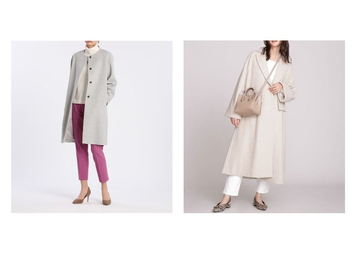 【nano universe/ナノ ユニバース】のウールビーバーマルチウェイコート&【INED/イネド】のノーカラーコート《Super110 s Wool》 アウターのおすすめ!人気、レディースファッションの通販 おすすめファッション通販アイテム レディースファッション・服の通販 founy(ファニー) ファッション Fashion レディース WOMEN アウター Coat Outerwear コート Coats ジャケット Jackets テーラードジャケット Tailored Jackets クラシカル ジャケット ポケット ロング 冬 Winter カーディガン ショート タートル トレンチ バランス  ID:crp329100000001289