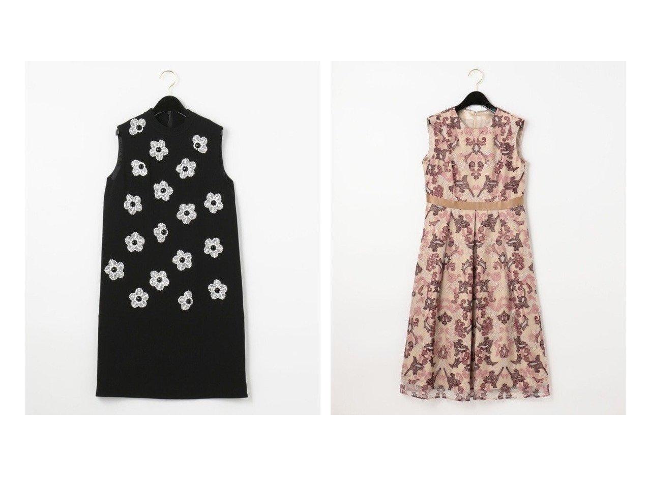 【GRACE CONTINENTAL/グレース コンチネンタル】のオーナメントチュール刺繍ドレス&ビジューフラワータイトワンピース ワンピース・ドレスのおすすめ!人気、レディースファッションの通販 おすすめで人気のファッション通販商品 インテリア・家具・キッズファッション・メンズファッション・レディースファッション・服の通販 founy(ファニー) https://founy.com/ ファッション Fashion レディース WOMEN ワンピース Dress ドレス Party Dresses ジョーゼット ノースリーブ ビジュー フラワー ロング スペシャル チュール ドレス フィット フェミニン フレア  ID:crp329100000001356