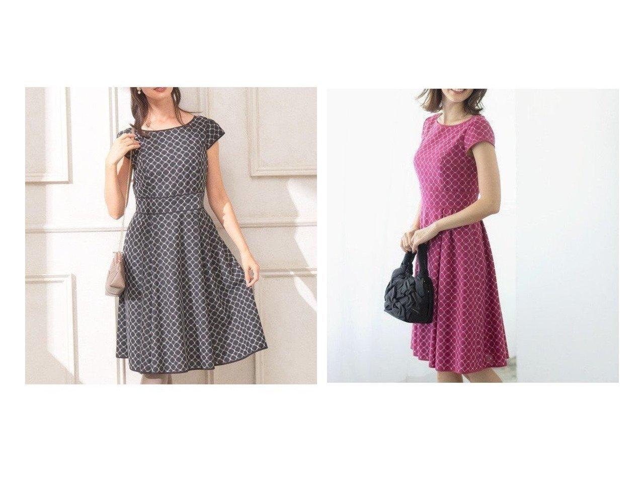 【TOCCA/トッカ】のCLOVER EMB. ドレス ワンピース・ドレスのおすすめ!人気、レディースファッションの通販 おすすめで人気のファッション通販商品 インテリア・家具・キッズファッション・メンズファッション・レディースファッション・服の通販 founy(ファニー) https://founy.com/ ファッション Fashion レディース WOMEN ワンピース Dress ドレス Party Dresses シンプル トレンド ドレス ファブリック モチーフ  ID:crp329100000001363