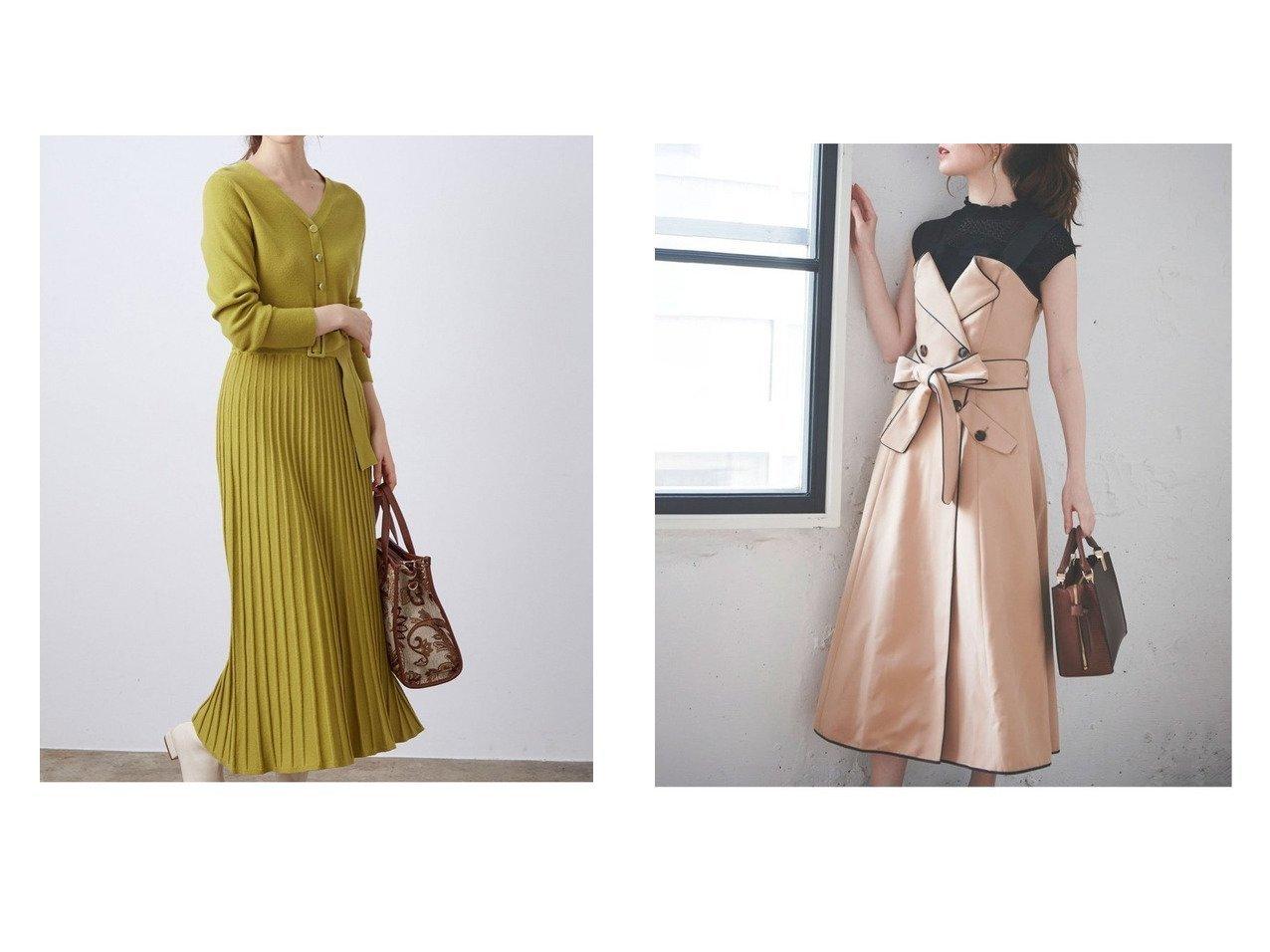 【Noela/ノエラ】のパイピングフレアジャンスカ&【VIS/ビス】のベルト付きプリーツニットワンピース ワンピース・ドレスのおすすめ!人気、レディースファッションの通販 おすすめで人気のファッション通販商品 インテリア・家具・キッズファッション・メンズファッション・レディースファッション・服の通販 founy(ファニー) https://founy.com/ ファッション Fashion レディース WOMEN ワンピース Dress ニットワンピース Knit Dresses ベルト Belts ガーリー フェミニン フロント プリーツ シャーリング パイピング  ID:crp329100000001369