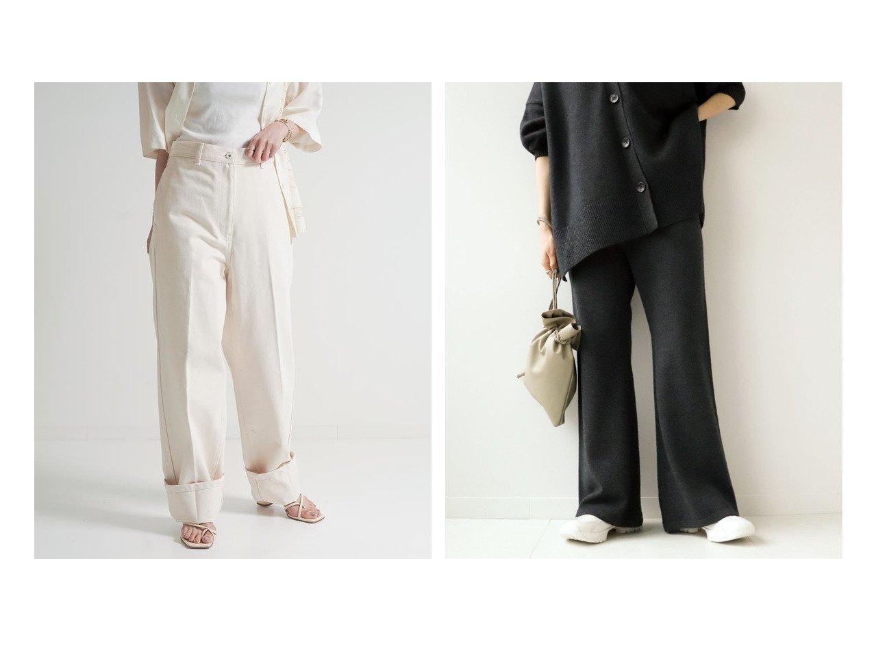 【BACCA/バッカ】のナチュラルデニム ハイウエストスラックスパンツ&【Plage/プラージュ】の【R IAM】Washable WOOL パンツ パンツのおすすめ!人気、レディースファッションの通販 おすすめで人気のファッション通販商品 インテリア・家具・キッズファッション・メンズファッション・レディースファッション・服の通販 founy(ファニー) https://founy.com/ ファッション Fashion レディース WOMEN パンツ Pants デニムパンツ Denim Pants 秋冬 A/W Autumn/ Winter ストレート デニム カシミア ジュエリー リラックス ワイド |ID:crp329100000001397