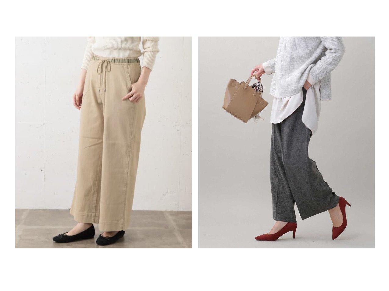 【nano universe/ナノ ユニバース】のイージーケア ウーリッシュタックパンツ&【Sonny Label / URBAN RESEARCH/サニーレーベル】のMoname EASY WIDE PANTS パンツのおすすめ!人気、レディースファッションの通販 おすすめで人気のファッション通販商品 インテリア・家具・キッズファッション・メンズファッション・レディースファッション・服の通販 founy(ファニー) https://founy.com/ ファッション Fashion レディース WOMEN パンツ Pants デニム トレンド フェミニン フランス ミックス ワイド ストレッチ ストレート スラックス センター チェック パターン 無地 秋冬 A/W Autumn/ Winter |ID:crp329100000001400