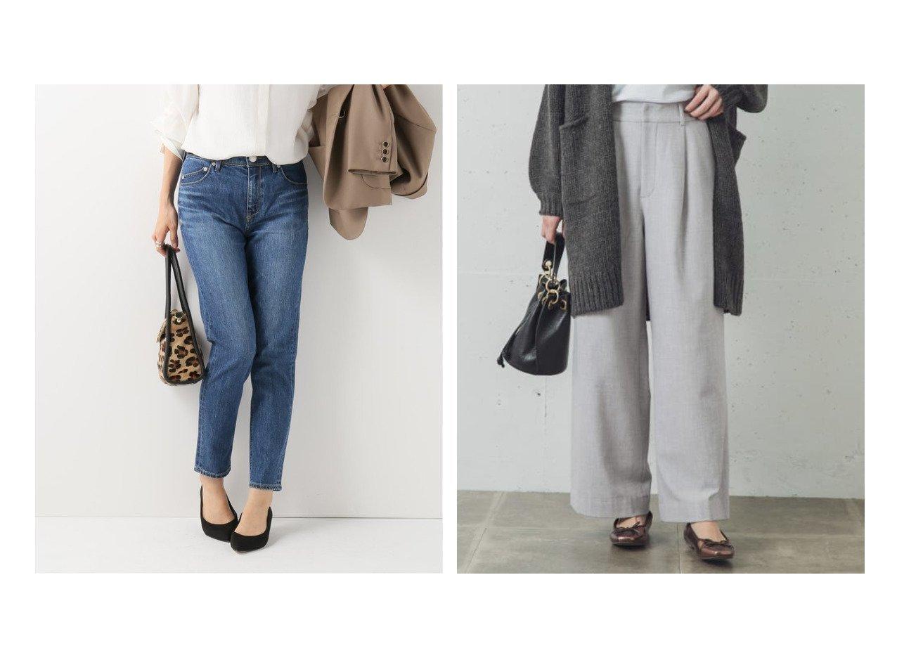 【Sonny Label / URBAN RESEARCH/サニーレーベル】のウールライクワイドパンツ&【IENA/イエナ】の【ヤヌーク】RUTH SLIM TAPERED パンツのおすすめ!人気、レディースファッションの通販 おすすめで人気のファッション通販商品 インテリア・家具・キッズファッション・メンズファッション・レディースファッション・服の通販 founy(ファニー) https://founy.com/ ファッション Fashion レディース WOMEN パンツ Pants デニムパンツ Denim Pants 秋冬 A/W Autumn/ Winter デニム ワイド |ID:crp329100000001402
