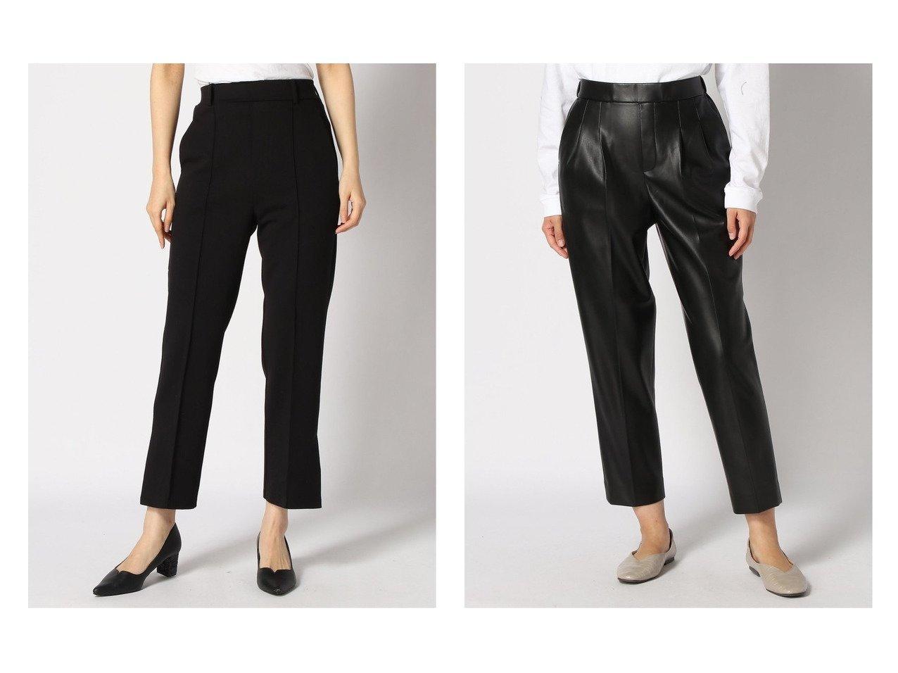 【GLOBAL WORK/グローバルワーク】のエコレザーテーパードP&【LOWRYS FARM/ローリーズファーム】のポンチサイドスリットパンツ パンツのおすすめ!人気、レディースファッションの通販 おすすめで人気のファッション通販商品 インテリア・家具・キッズファッション・メンズファッション・レディースファッション・服の通販 founy(ファニー) https://founy.com/ ファッション Fashion レディース WOMEN パンツ Pants シンプル ジーンズ スリット フィット ストレッチ  ID:crp329100000001445