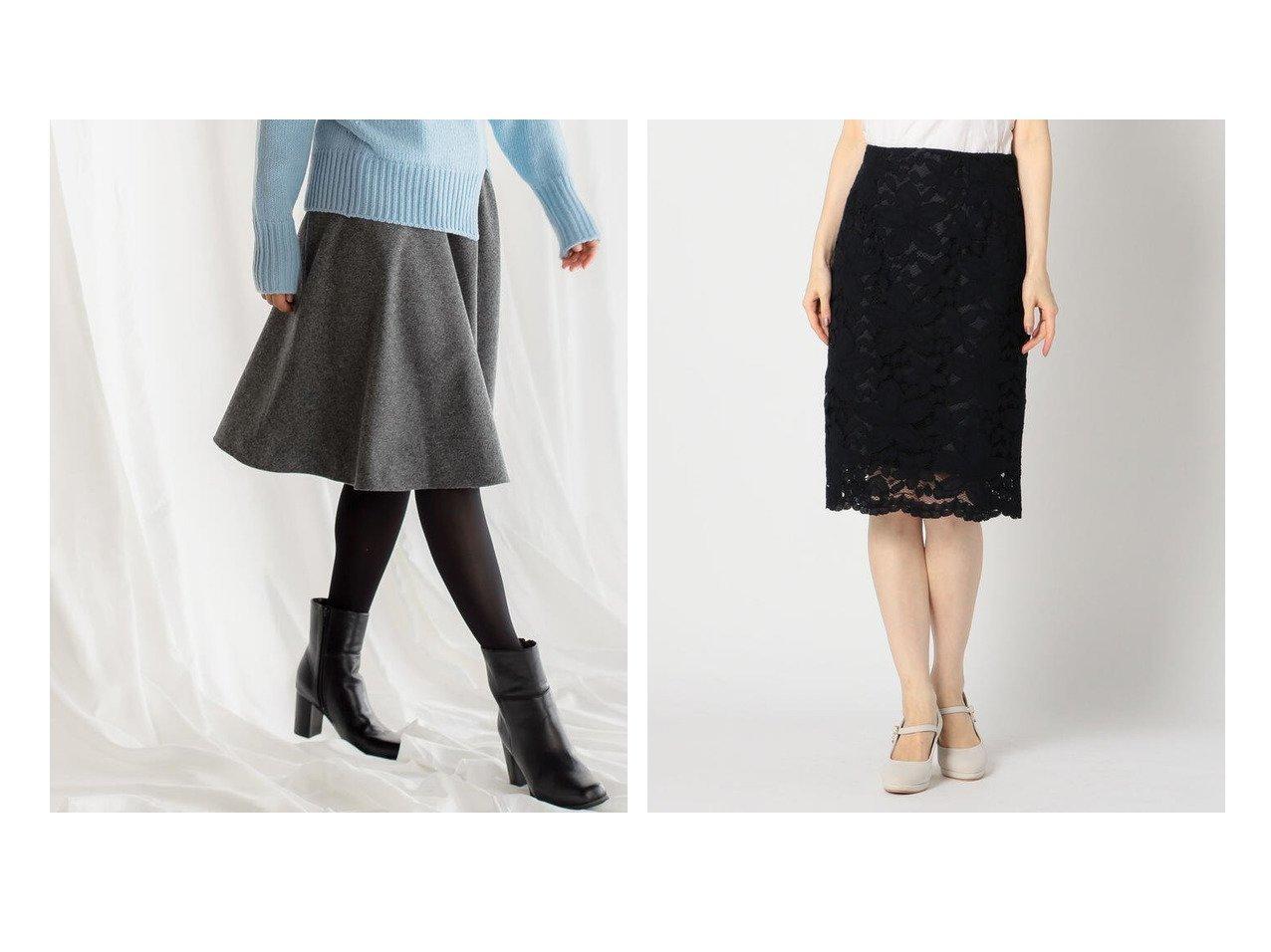 【MISCH MASCH/ミッシュマッシュ】のレースタイトスカート&【Viaggio Blu/ビアッジョブルー】のウィンターサーキュラースカート スカートのおすすめ!人気、レディースファッションの通販 おすすめで人気のファッション通販商品 インテリア・家具・キッズファッション・メンズファッション・レディースファッション・服の通販 founy(ファニー) https://founy.com/ ファッション Fashion レディース WOMEN スカート Skirt フェミニン フレア ミドル 人気 定番 タイトスカート  ID:crp329100000001468