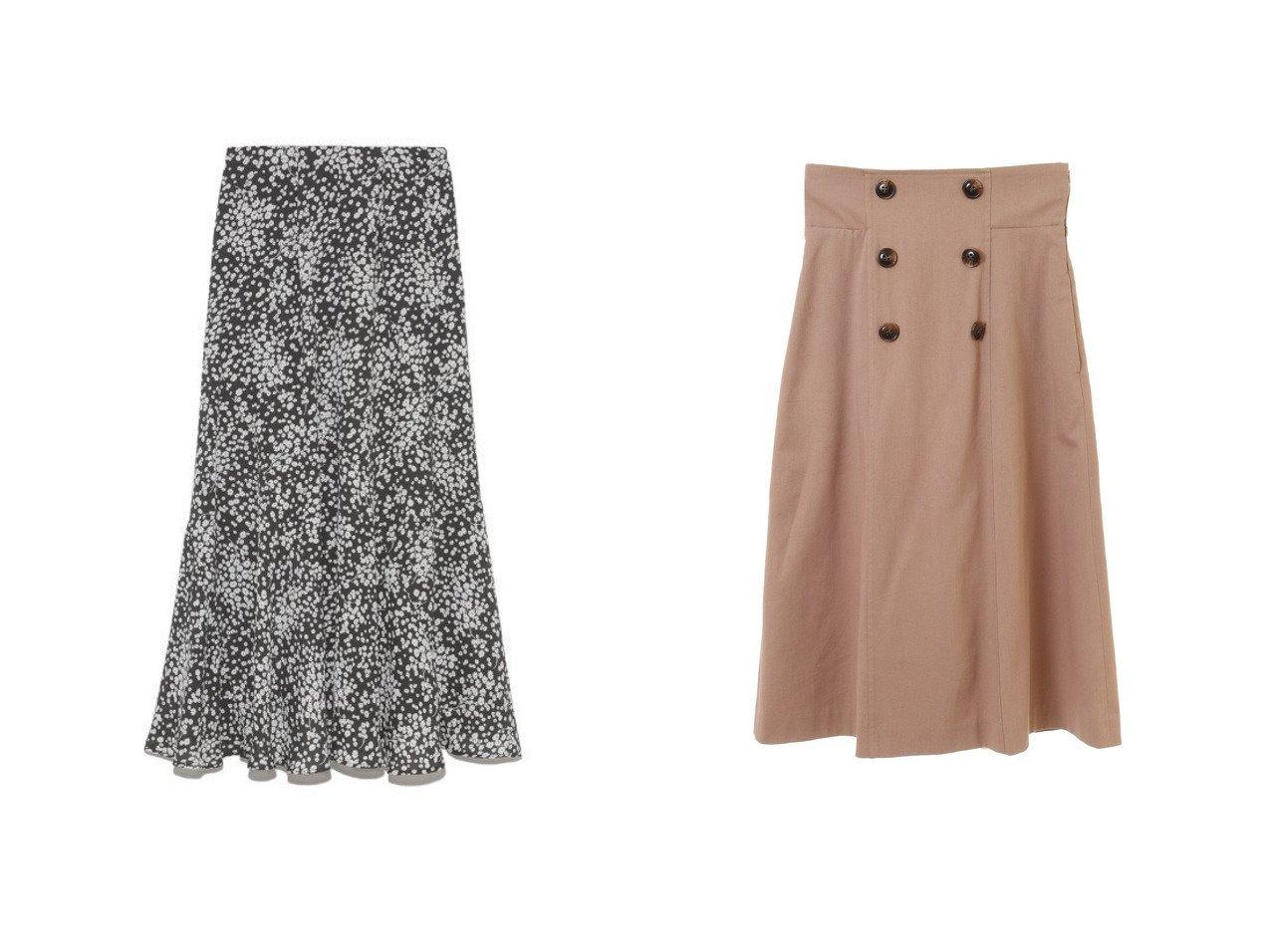 【31 Sons de mode/トランテアン ソン ドゥ モード】のバックプリーツトレンチスカート&【Mila Owen/ミラオーウェン】のバイアス切替えプリントナロースカート スカートのおすすめ!人気、レディースファッションの通販 おすすめで人気のファッション通販商品 インテリア・家具・キッズファッション・メンズファッション・レディースファッション・服の通販 founy(ファニー) https://founy.com/ ファッション Fashion レディース WOMEN スカート Skirt スマート バイアス フィット プリント 楽ちん デニム トレンチ フリル フロント 冬 Winter  ID:crp329100000001473