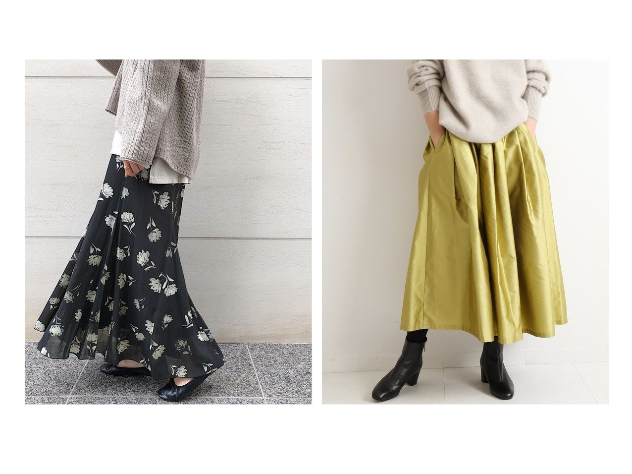 【IENA/イエナ】の《追加》カッセンデシンパネルスカート&《追加》AIDAタフタギャザースカート スカートのおすすめ!人気、レディースファッションの通販 おすすめで人気のファッション通販商品 インテリア・家具・キッズファッション・メンズファッション・レディースファッション・服の通販 founy(ファニー) https://founy.com/ ファッション Fashion レディース WOMEN スカート Skirt Aライン/フレアスカート Flared A-Line Skirts 秋冬 A/W Autumn/ Winter ギャザー フラワー フレア プリント マキシ イエロー くるぶし ドレス  ID:crp329100000001477