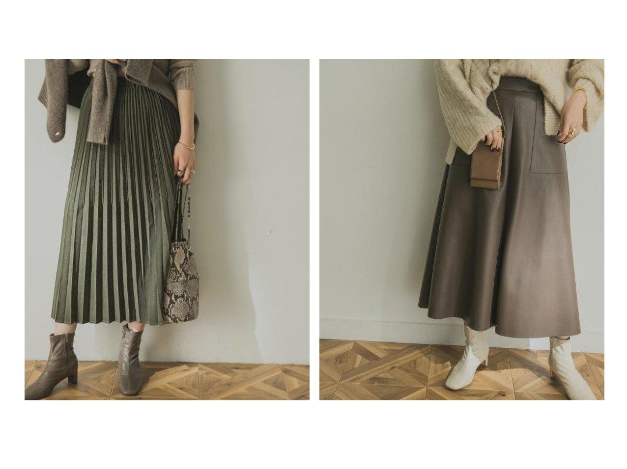 【URBAN RESEARCH/アーバンリサーチ】のスウェードタッチプリーツスカート&エコレザースカート スカートのおすすめ!人気、レディースファッションの通販 おすすめで人気のファッション通販商品 インテリア・家具・キッズファッション・メンズファッション・レディースファッション・服の通販 founy(ファニー) https://founy.com/ ファッション Fashion レディース WOMEN スカート Skirt プリーツスカート Pleated Skirts スウェード スタンダード プリーツ ポケット ロング 春 スウェット タートル フロント ベスト リブニット  ID:crp329100000001478