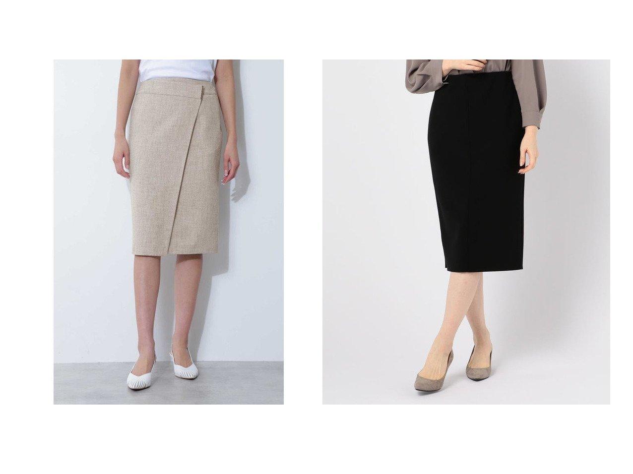 【BOSCH/ボッシュ】の麻調ツイルセットアップスカート&【NOLLEY'S sophi/ノーリーズソフィー】のニットジョーゼットタイトスカート スカートのおすすめ!人気、レディースファッションの通販 おすすめで人気のファッション通販商品 インテリア・家具・キッズファッション・メンズファッション・レディースファッション・服の通販 founy(ファニー) https://founy.com/ ファッション Fashion レディース WOMEN セットアップ Setup スカート Skirt スカート Skirt ネップ フロント ラップ ジョーゼット タイトスカート フォーマル ベーシック |ID:crp329100000001486