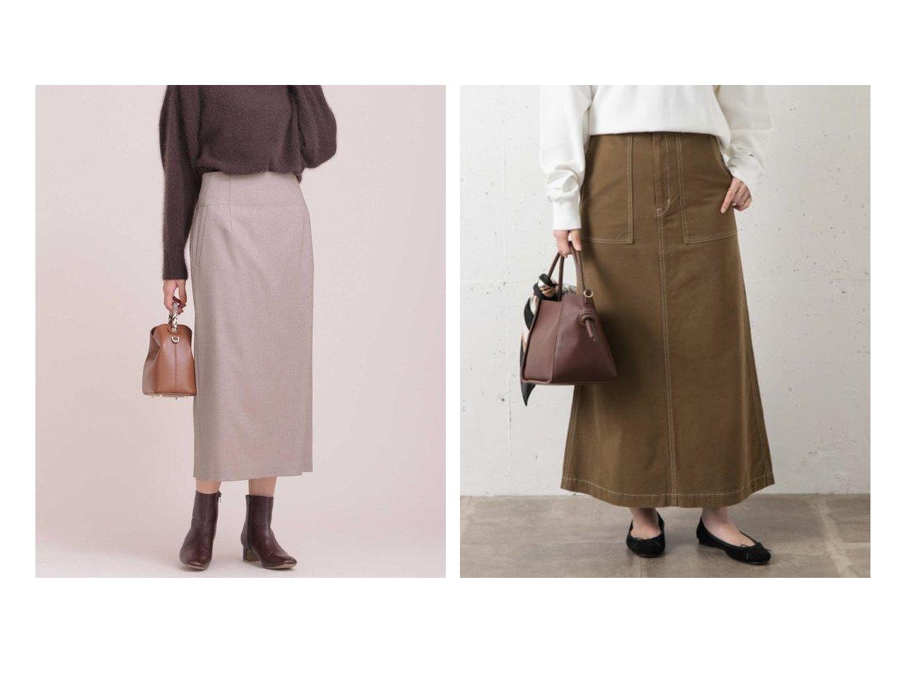 【Sonny Label / URBAN RESEARCH/サニーレーベル】のセミフレアベイカースカート&【nano universe/ナノ ユニバース】の2wayスカート スカートのおすすめ!人気、レディースファッションの通販 おすすめで人気のファッション通販商品 インテリア・家具・キッズファッション・メンズファッション・レディースファッション・服の通販 founy(ファニー) https://founy.com/ ファッション Fashion レディース WOMEN スカート Skirt Aライン/フレアスカート Flared A-Line Skirts ウォーム サスペンダー シンプル スリット タイトスカート ツイル パープル ポケット スタンダード |ID:crp329100000001487