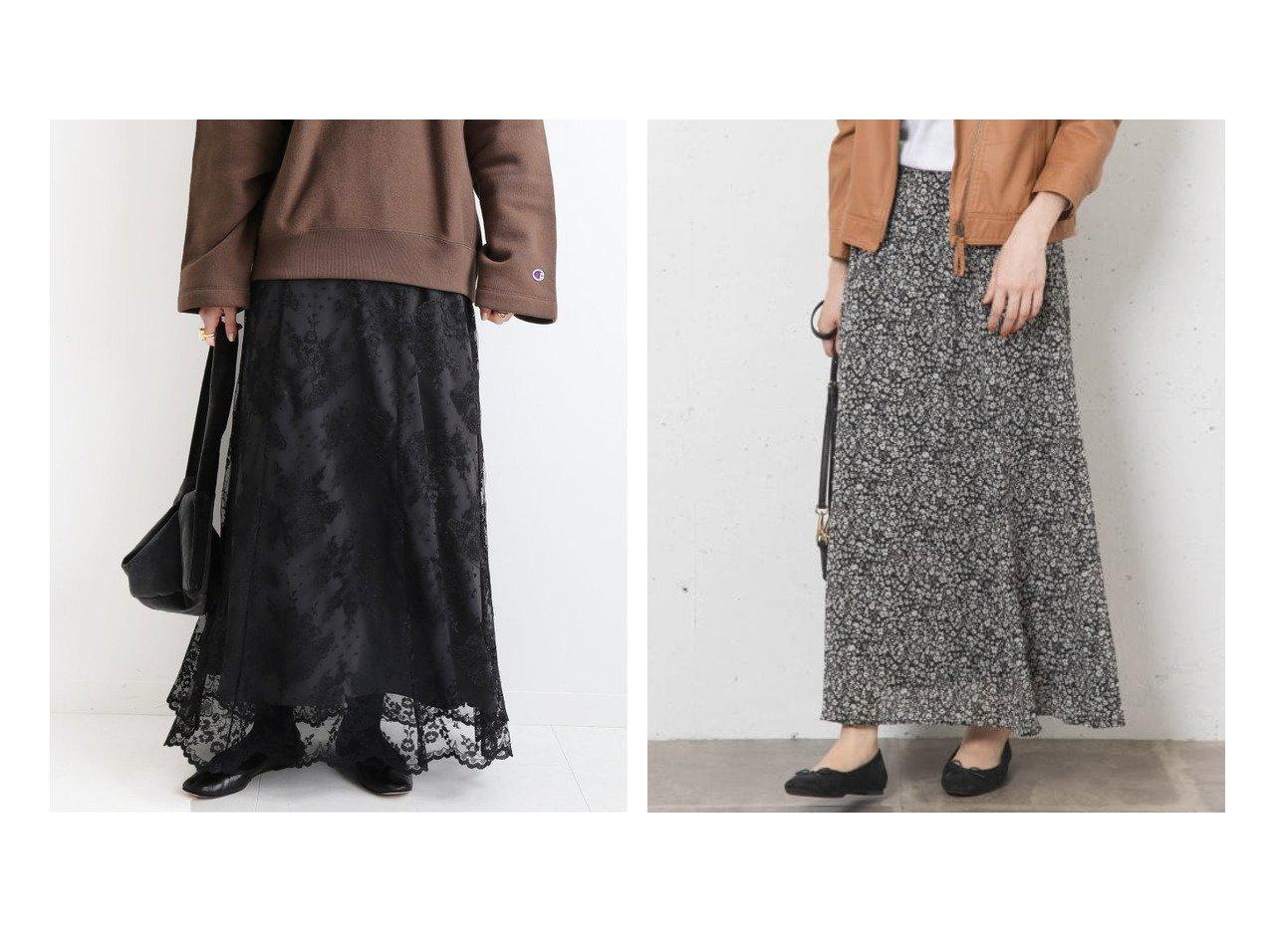 【Sonny Label / URBAN RESEARCH/サニーレーベル】のスモールフラワープリントスカート&【IENA/イエナ】のKlauber レースフレアスカート スカートのおすすめ!人気、レディースファッションの通販 おすすめで人気のファッション通販商品 インテリア・家具・キッズファッション・メンズファッション・レディースファッション・服の通販 founy(ファニー) https://founy.com/ ファッション Fashion レディース WOMEN スカート Skirt Aライン/フレアスカート Flared A-Line Skirts 秋冬 A/W Autumn/ Winter エレガント パターン フレア ベロア レース ギャザー スタンダード プリント マキシ |ID:crp329100000001490