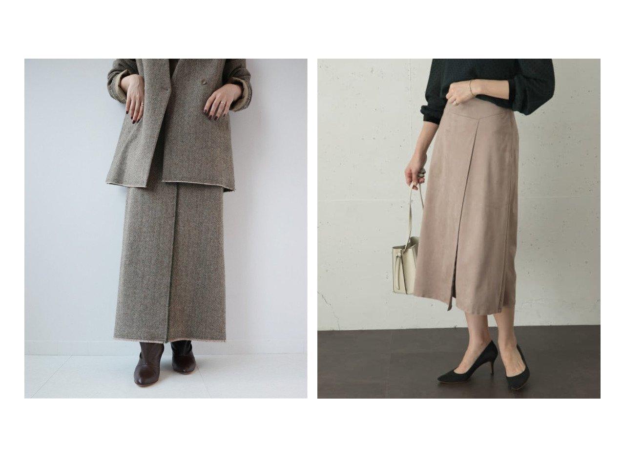 【Plage/プラージュ】の【R IAM】シェットヘリン スカート&【URBAN RESEARCH ROSSO/アーバンリサーチ ロッソ】のエコスエードスカート スカートのおすすめ!人気、レディースファッションの通販 おすすめで人気のファッション通販商品 インテリア・家具・キッズファッション・メンズファッション・レディースファッション・服の通販 founy(ファニー) https://founy.com/ ファッション Fashion レディース WOMEN スカート Skirt Aライン/フレアスカート Flared A-Line Skirts カットオフ ジャケット ジュエリー ロング 秋冬 A/W Autumn/ Winter ウォーム スエード フロント ラップ |ID:crp329100000001493