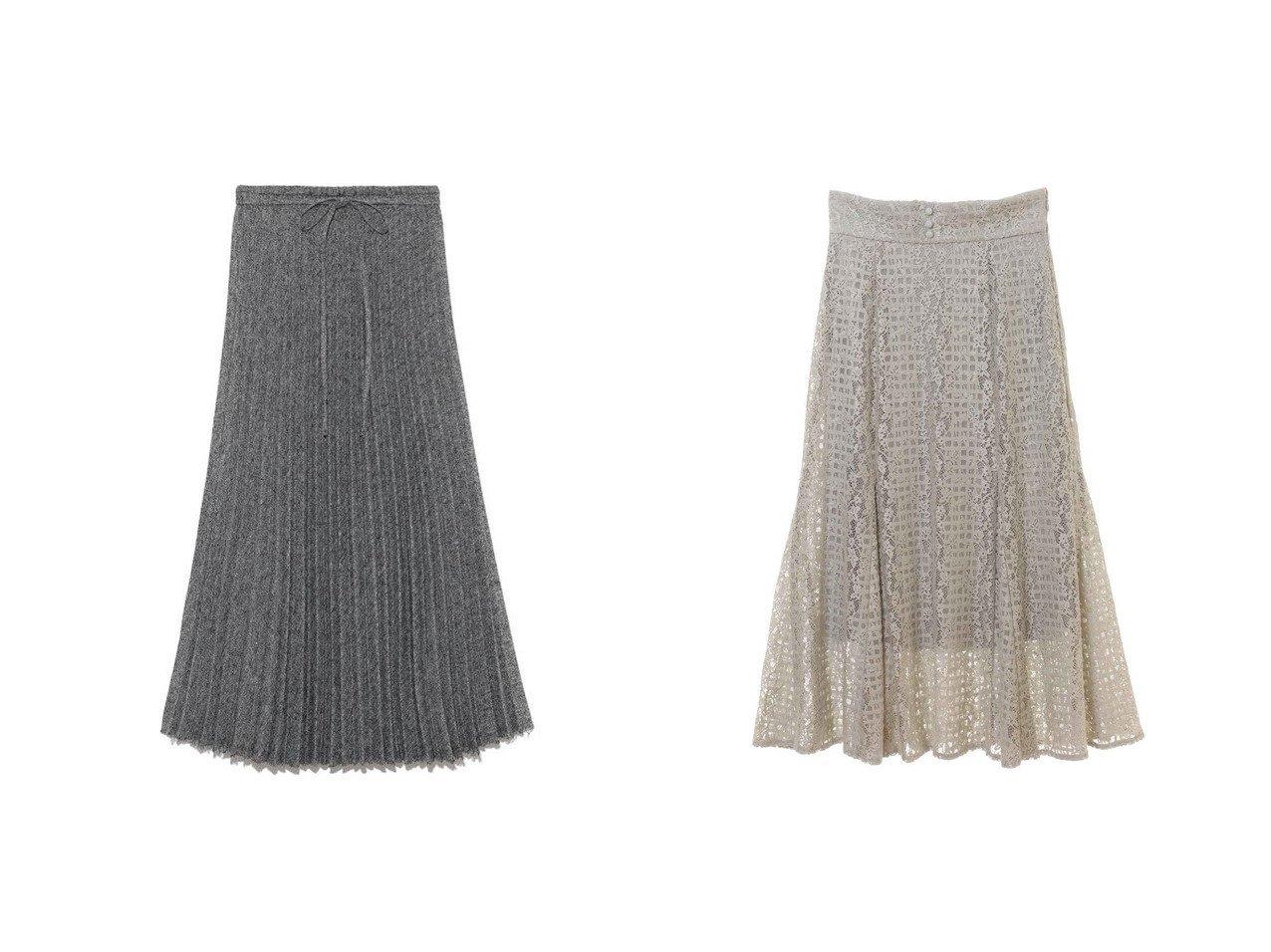 【31 Sons de mode/トランテアン ソン ドゥ モード】のモールレーススカート&【Mila Owen/ミラオーウェン】のウエストゴムランダムプリーツロングスカート スカートのおすすめ!人気、レディースファッションの通販 おすすめで人気のファッション通販商品 インテリア・家具・キッズファッション・メンズファッション・レディースファッション・服の通販 founy(ファニー) https://founy.com/ ファッション Fashion レディース WOMEN スカート Skirt ロングスカート Long Skirt 人気 プリーツ ランダム フレア レース 冬 Winter |ID:crp329100000001500