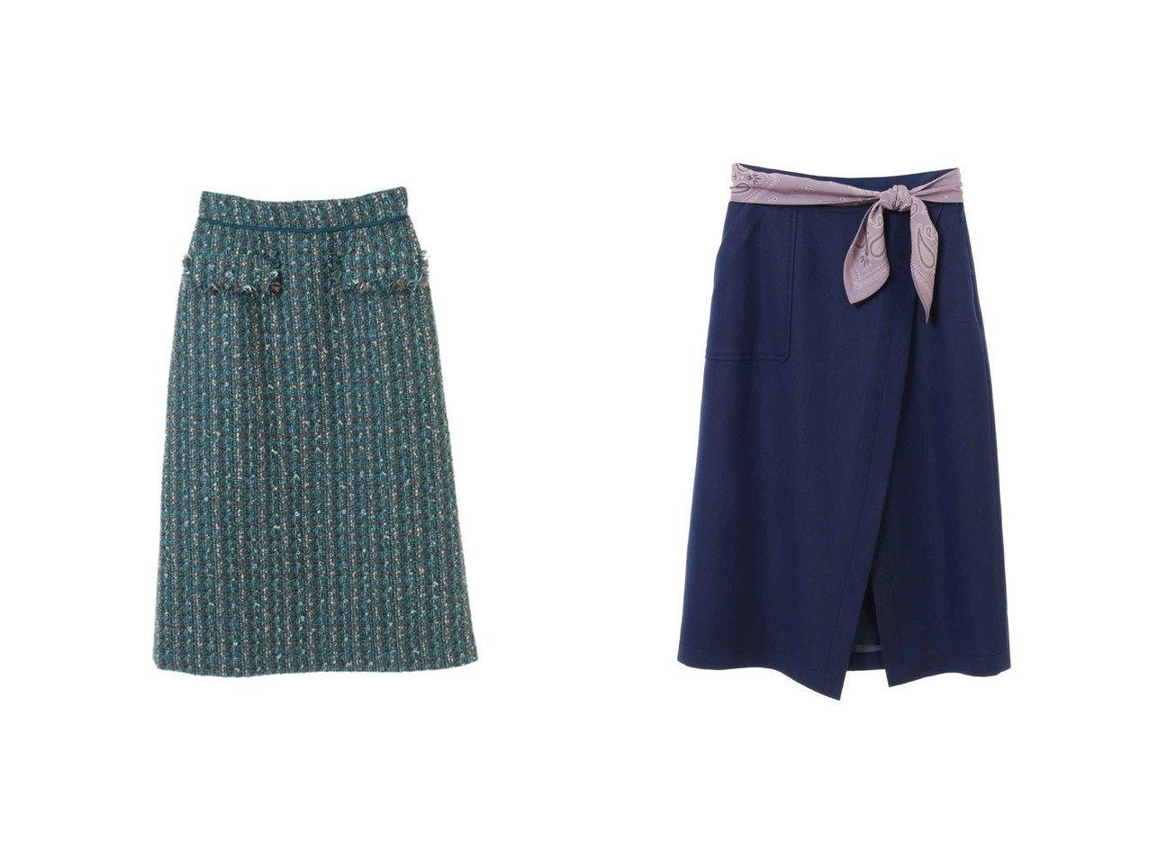 【31 Sons de mode/トランテアン ソン ドゥ モード】の【スカート】スカーフ付きタイトスカート&【スカート 】ツイードタイトスカート スカートのおすすめ!人気、レディースファッションの通販 おすすめで人気のファッション通販商品 インテリア・家具・キッズファッション・メンズファッション・レディースファッション・服の通販 founy(ファニー) https://founy.com/ ファッション Fashion レディース WOMEN スカート Skirt アクリル シンプル ツイード 冬 Winter スカーフ |ID:crp329100000001503