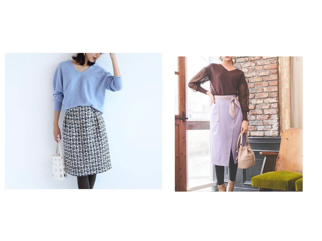 【31 Sons de mode/トランテアン ソン ドゥ モード】の【スカート】スカーフ付きタイトスカート&【JUSGLITTY/ジャスグリッティー】のツイードタイトスカート スカートのおすすめ!人気、レディースファッションの通販 おすすめで人気のファッション通販商品 インテリア・家具・キッズファッション・メンズファッション・レディースファッション・服の通販 founy(ファニー) https://founy.com/ ファッション Fashion レディース WOMEN スカート Skirt スカーフ |ID:crp329100000001504