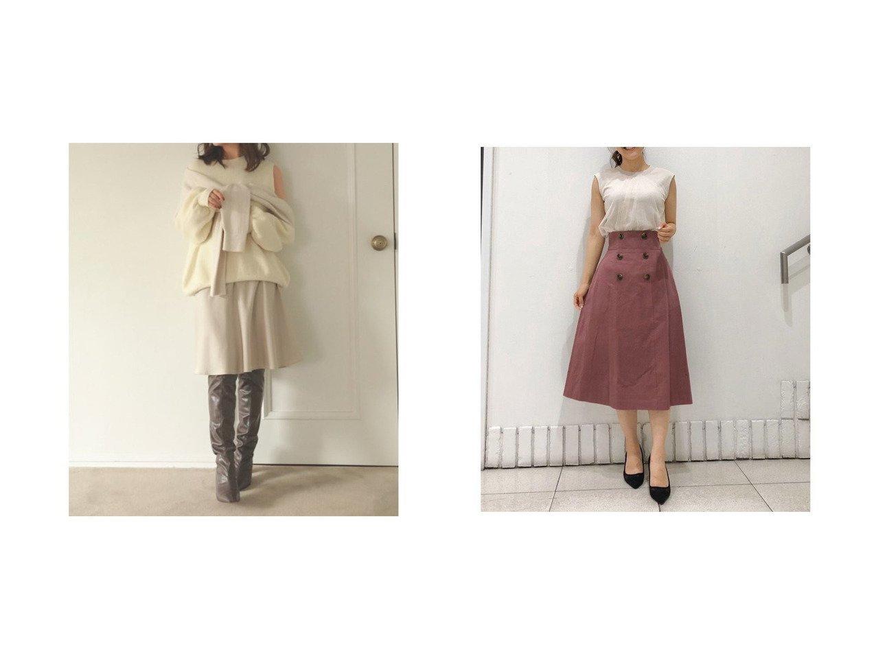 【31 Sons de mode/トランテアン ソン ドゥ モード】の【スカート】バックプリーツトレンチスカート&【SNIDEL/スナイデル】のミニスカート スカートのおすすめ!人気、レディースファッションの通販 おすすめで人気のファッション通販商品 インテリア・家具・キッズファッション・メンズファッション・レディースファッション・服の通販 founy(ファニー) https://founy.com/ ファッション Fashion レディース WOMEN スカート Skirt ミニスカート Mini Skirts 今季 サテン シンプル トレンド バイアス フレア ミニスカート ロング 冬 Winter |ID:crp329100000001505