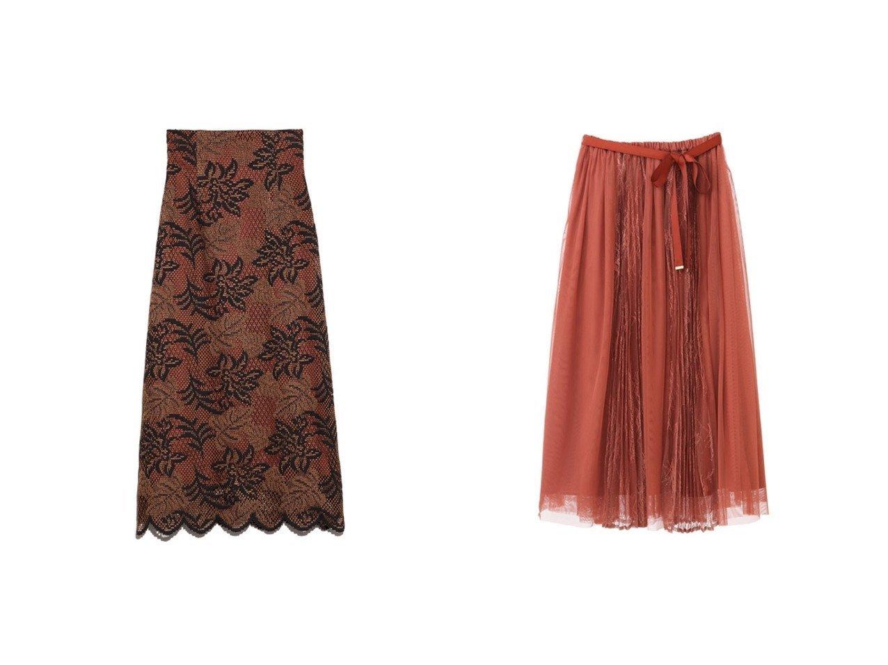 【31 Sons de mode/トランテアン ソン ドゥ モード】の【スカート】レースプリーツ切替チュールスカート&【Lily Brown/リリーブラウン】のバイカラーフラワーレーススカート スカートのおすすめ!人気、レディースファッションの通販 おすすめで人気のファッション通販商品 インテリア・家具・キッズファッション・メンズファッション・レディースファッション・服の通販 founy(ファニー) https://founy.com/ ファッション Fashion レディース WOMEN スカート Skirt エレガント スカラップ ハンド レース 秋冬 A/W Autumn/ Winter 切替 スカーフ スリーブ チュール プリーツ 冬 Winter |ID:crp329100000001506