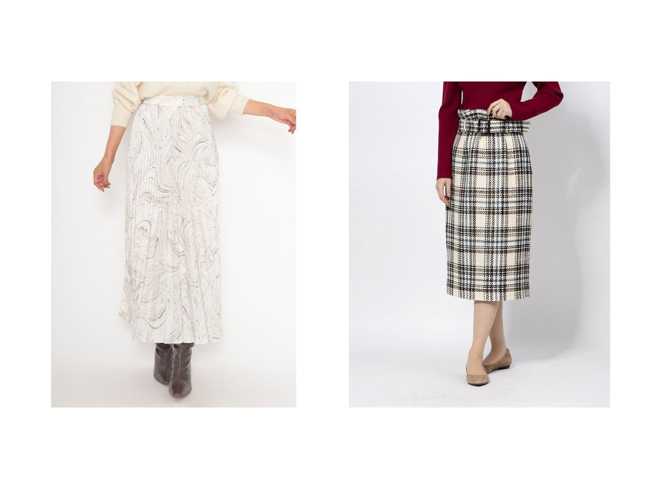 【JUSGLITTY/ジャスグリッティー】のロービングチェックタイトスカート&【SNIDEL/スナイデル】のシャイニープリーツナローSK スカートのおすすめ!人気、レディースファッションの通販 おすすめで人気のファッション通販商品 インテリア・家具・キッズファッション・メンズファッション・レディースファッション・服の通販 founy(ファニー) https://founy.com/ ファッション Fashion レディース WOMEN スカート Skirt サテン シンプル 雑誌 トレンド パープル フェミニン プリーツ マーブル 無地 ロング クラシカル バランス |ID:crp329100000001508