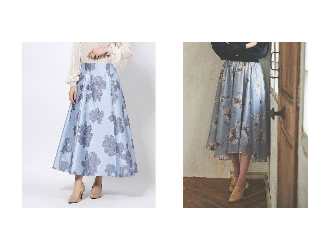 【31 Sons de mode/トランテアン ソン ドゥ モード】の【スカート】水彩花柄イレヘムスカート&【JUSGLITTY/ジャスグリッティー】のジャガードフレアスカート スカートのおすすめ!人気、レディースファッションの通販 おすすめで人気のファッション通販商品 インテリア・家具・キッズファッション・メンズファッション・レディースファッション・服の通販 founy(ファニー) https://founy.com/ ファッション Fashion レディース WOMEN スカート Skirt Aライン/フレアスカート Flared A-Line Skirts エレガント フレア イレギュラーヘム オーガンジー シンプル フェミニン フラワー プリント 冬 Winter |ID:crp329100000001509
