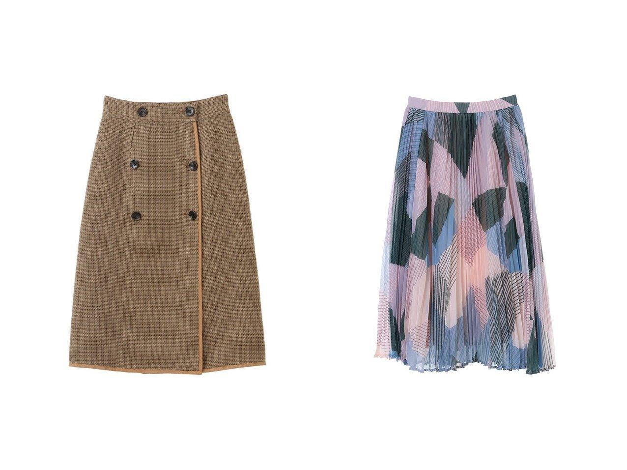【31 Sons de mode/トランテアン ソン ドゥ モード】の【スカート】リバーシブルチェックタイトスカート&幾何学柄プリーツスカート スカートのおすすめ!人気、レディースファッションの通販 おすすめで人気のファッション通販商品 インテリア・家具・キッズファッション・メンズファッション・レディースファッション・服の通販 founy(ファニー) https://founy.com/ ファッション Fashion レディース WOMEN スカート Skirt プリーツスカート Pleated Skirts クラシカル ダブル フロント ペチコート リバーシブル 冬 Winter |ID:crp329100000001511