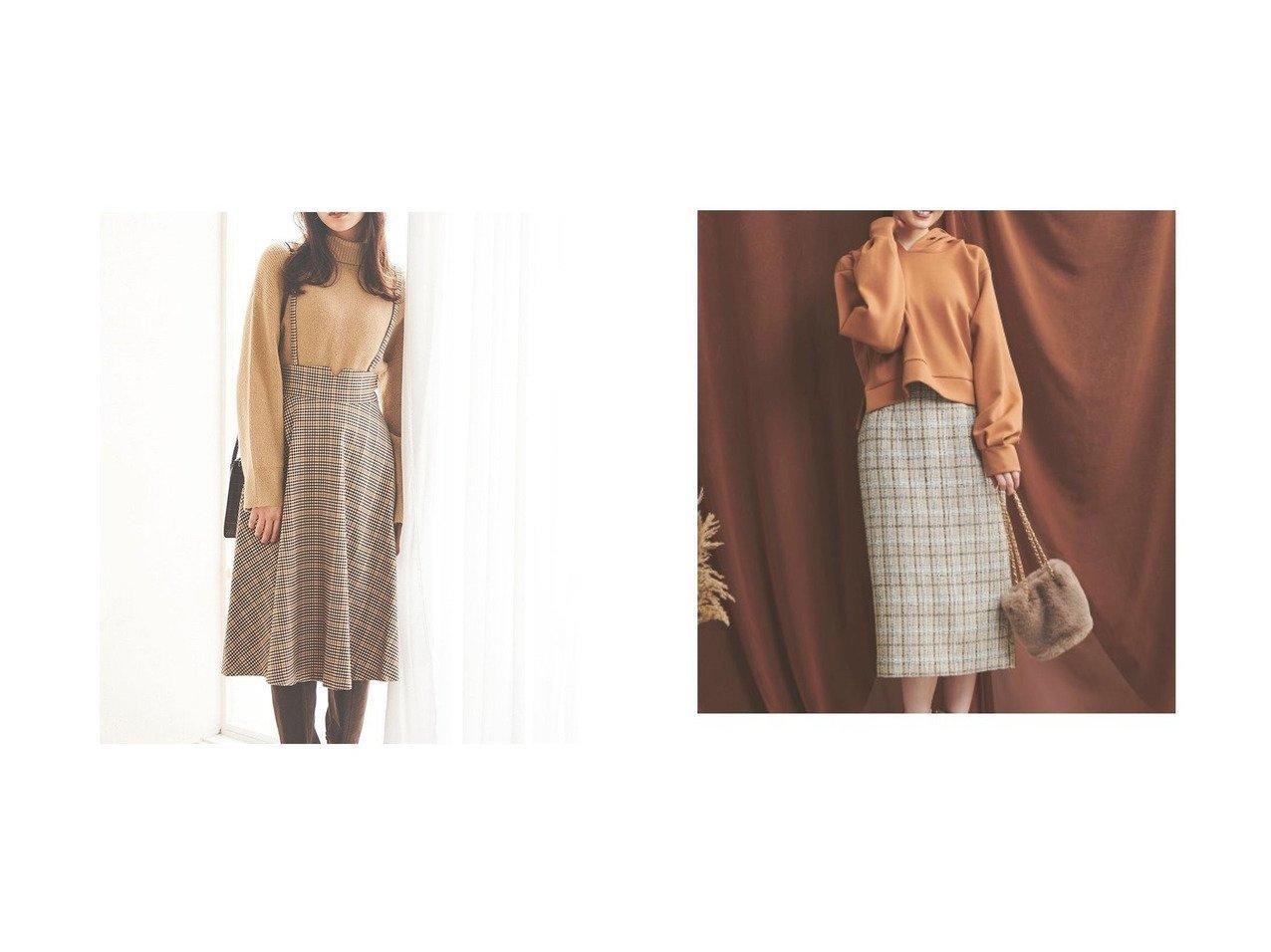 【31 Sons de mode/トランテアン ソン ドゥ モード】の【スカート】サス付きチェックフレアスカート&【Noela/ノエラ】のツイードタイトスカート スカートのおすすめ!人気、レディースファッションの通販 おすすめで人気のファッション通販商品 インテリア・家具・キッズファッション・メンズファッション・レディースファッション・服の通販 founy(ファニー) https://founy.com/ ファッション Fashion レディース WOMEN スカート Skirt Aライン/フレアスカート Flared A-Line Skirts アクセサリー イヤーカフ 秋 カットソー サスペンダー シューズ ショート タートルネック チェック トレーナー ネックレス ハイネック フェミニン 冬 Winter 秋冬 A/W Autumn/ Winter アクリル タイトスカート ツィード |ID:crp329100000001513