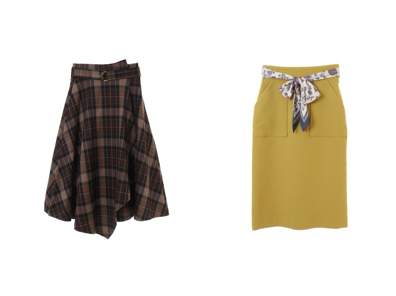 【31 Sons de mode/トランテアン ソン ドゥ モード】の【スカート 】スカーフ付ベルトタイトスカート&【スカート】アシメフレアスカート スカートのおすすめ!人気、レディースファッションの通販 おすすめで人気のファッション通販商品 インテリア・家具・キッズファッション・メンズファッション・レディースファッション・服の通販 founy(ファニー) https://founy.com/ ファッション Fashion レディース WOMEN スカート Skirt Aライン/フレアスカート Flared A-Line Skirts ベルト Belts エレガント スカーフ スリット 冬 Winter |ID:crp329100000001514