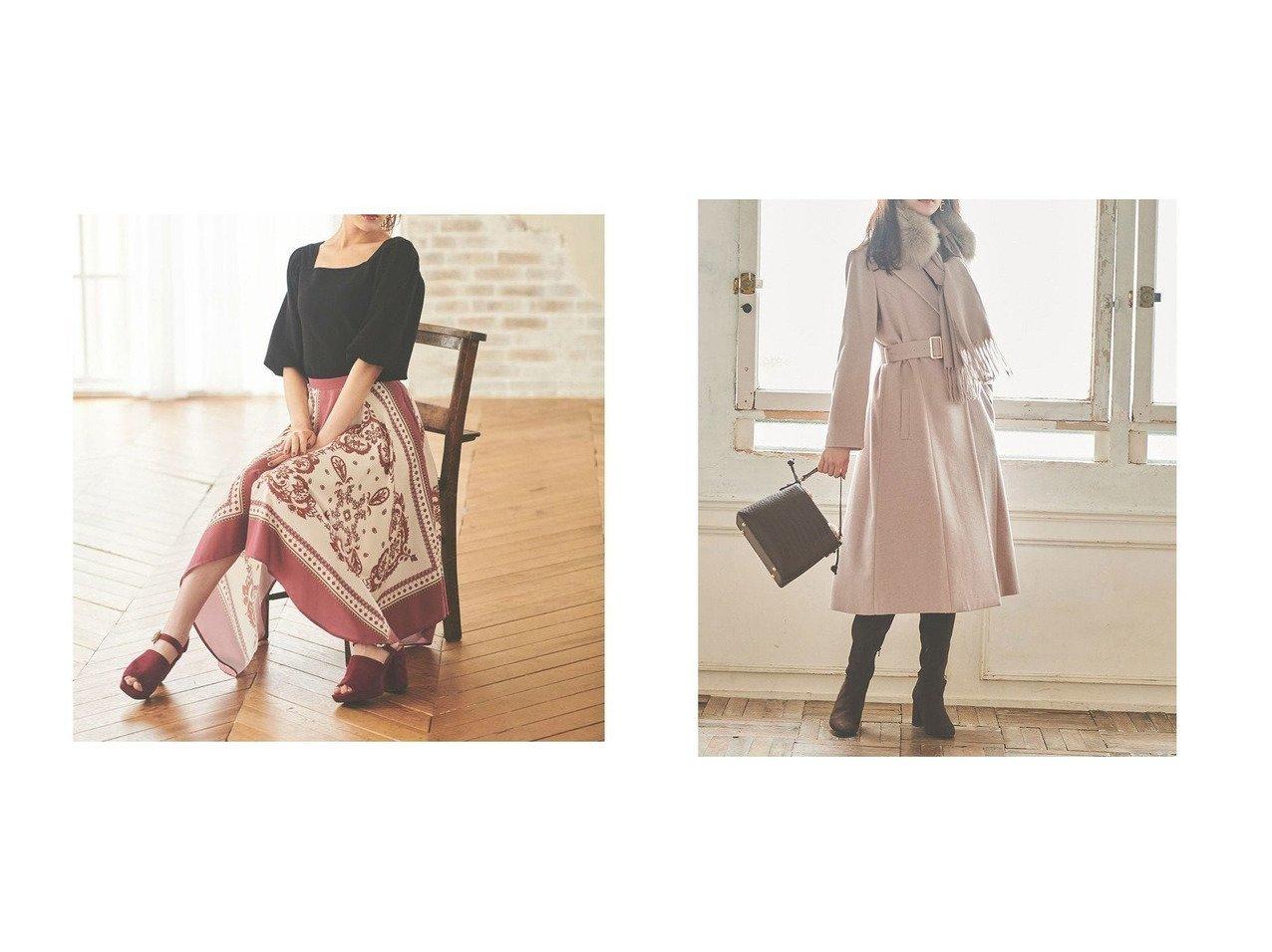 【31 Sons de mode/トランテアン ソン ドゥ モード】の【スカート】スカーフ柄プリントスカート&【コート】ファーストール付きチェスターコート スカートのおすすめ!人気、レディースファッションの通販 おすすめで人気のファッション通販商品 インテリア・家具・キッズファッション・メンズファッション・レディースファッション・服の通販 founy(ファニー) https://founy.com/ ファッション Fashion レディース WOMEN スカート Skirt アウター Coat Outerwear コート Coats チェスターコート Top Coat イレギュラーヘム エレガント コンビ スカーフ プリント 冬 Winter |ID:crp329100000001515