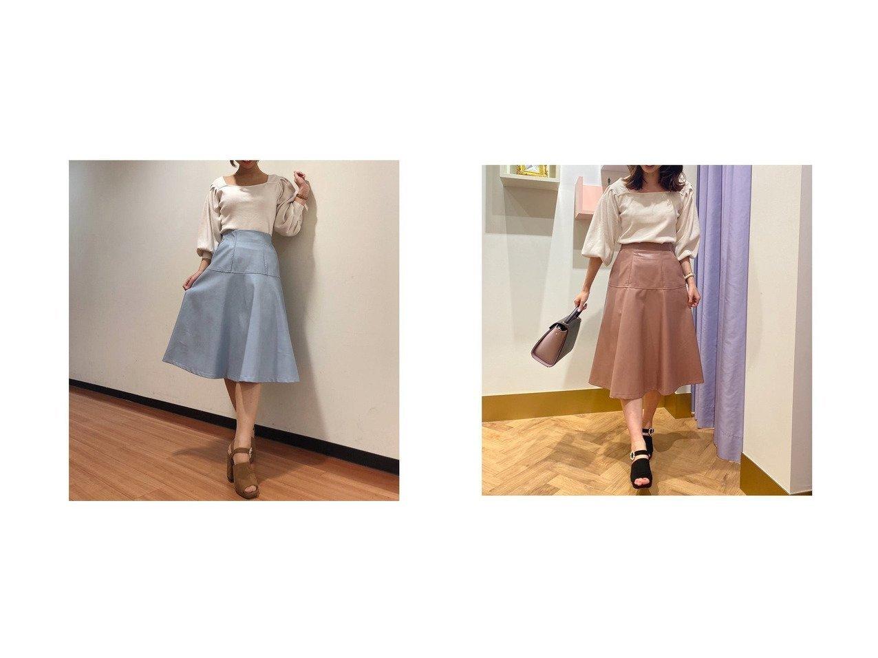【31 Sons de mode/トランテアン ソン ドゥ モード】のレザーフレアスカート スカートのおすすめ!人気、レディースファッションの通販 おすすめで人気のファッション通販商品 インテリア・家具・キッズファッション・メンズファッション・レディースファッション・服の通販 founy(ファニー) https://founy.com/ ファッション Fashion レディース WOMEN スカート Skirt Aライン/フレアスカート Flared A-Line Skirts フィット フェイク フェミニン フレア 冬 Winter  ID:crp329100000001517