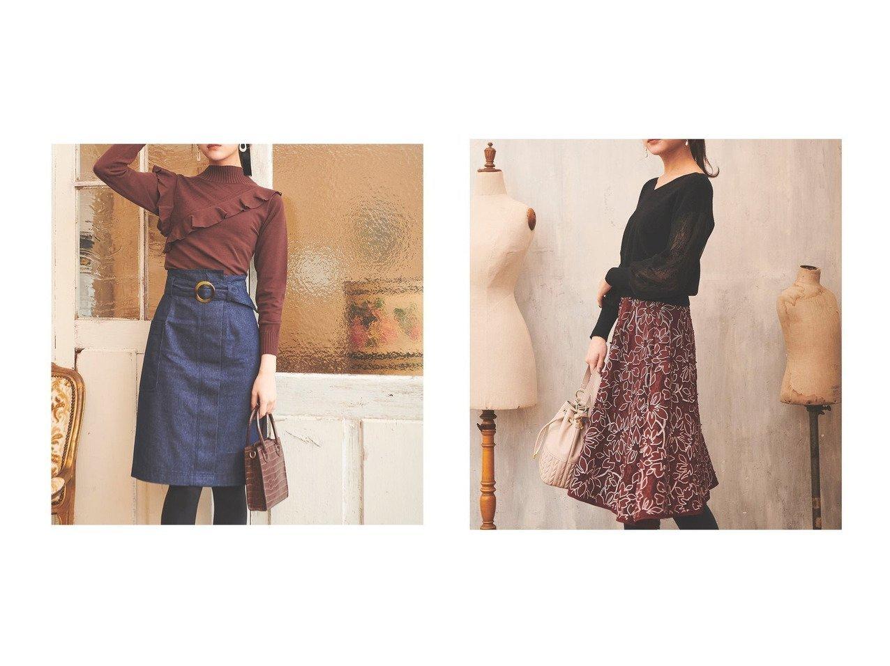 【31 Sons de mode/トランテアン ソン ドゥ モード】の【スカート】フラワーレーススカート&ベルト付きハイウエストタイトスカート スカートのおすすめ!人気、レディースファッションの通販 おすすめで人気のファッション通販商品 インテリア・家具・キッズファッション・メンズファッション・レディースファッション・服の通販 founy(ファニー) https://founy.com/ ファッション Fashion レディース WOMEN スカート Skirt ベルト Belts アシンメトリー 春 秋 カットソー シューズ ストレート スニーカー チェスターコート デニム トレーナー フラット ブルゾン ロング 冬 Winter  ID:crp329100000001520
