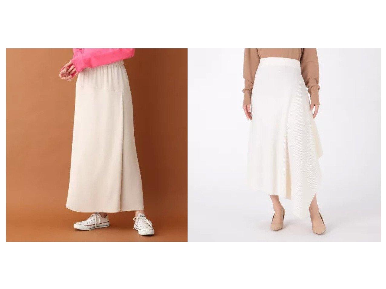 【CASSY PRIVE/キャシープリヴェ】のエクストラファインメリノウールリブスカート&【DRESSTERIOR/ドレステリア】のミカゲバックサテンスカート スカートのおすすめ!人気、レディースファッションの通販 おすすめで人気のファッション通販商品 インテリア・家具・キッズファッション・メンズファッション・レディースファッション・服の通販 founy(ファニー) https://founy.com/ ファッション Fashion レディース WOMEN スカート Skirt ストレート スリット マキシ ラップ ロング  ID:crp329100000001524