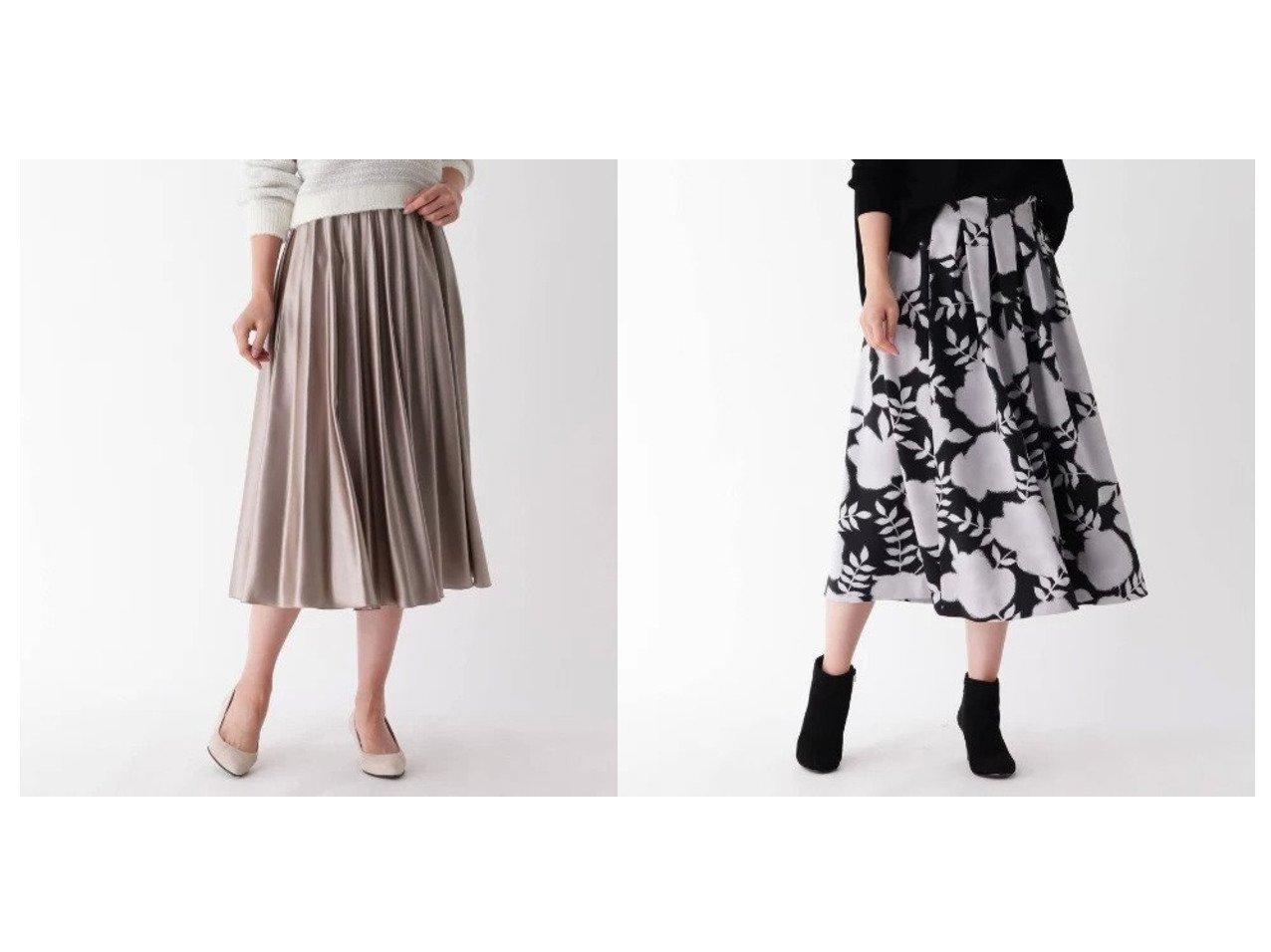 【modify/モディファイ】のシェードフラワータックスカート&モードサテンシェルプリーツスカート スカートのおすすめ!人気、レディースファッションの通販 おすすめで人気のファッション通販商品 インテリア・家具・キッズファッション・メンズファッション・レディースファッション・服の通販 founy(ファニー) https://founy.com/ ファッション Fashion レディース WOMEN スカート Skirt プリーツスカート Pleated Skirts フレア プリーツ フォルム フラワー ボックス ミモレ  ID:crp329100000001529