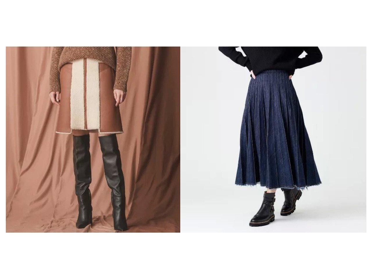 【EPOCA/エポカ】のデニムプリーツスカート&カーリーメルノムートンスカート スカートのおすすめ!人気、レディースファッションの通販 おすすめで人気のファッション通販商品 インテリア・家具・キッズファッション・メンズファッション・レディースファッション・服の通販 founy(ファニー) https://founy.com/ ファッション Fashion レディース WOMEN スカート Skirt プリーツスカート Pleated Skirts ショート デニム プリーツ マキシ ロング  ID:crp329100000001531