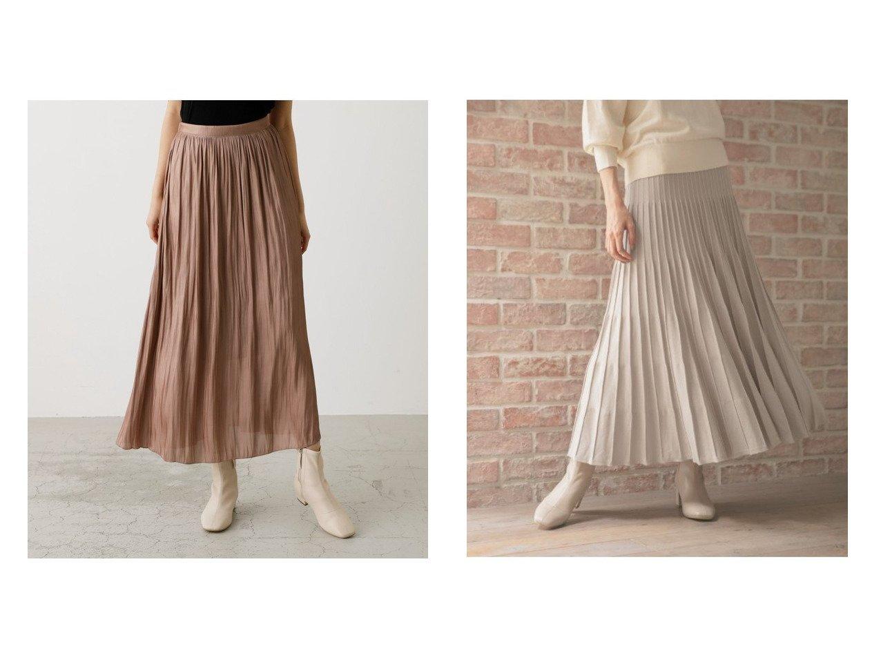 【GLOBAL WORK/グローバルワーク】のメルティニットプリーツSK&【AZUL by moussy/アズール バイ マウジー】のシャイニープリーツスカート スカートのおすすめ!人気、レディースファッションの通販 おすすめで人気のファッション通販商品 インテリア・家具・キッズファッション・メンズファッション・レディースファッション・服の通販 founy(ファニー) https://founy.com/ ファッション Fashion レディース WOMEN スカート Skirt プリーツスカート Pleated Skirts シャイニー トレンド パーカー プリーツ ギャザー 秋  ID:crp329100000001548