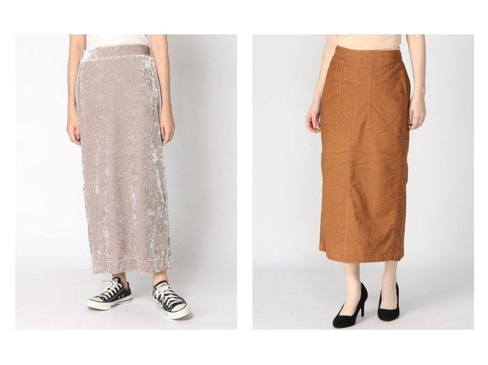 【studio CLIP/スタディオ クリップ】のストレッチマキシナローSK&【JEANASiS/ジーナシス】のクラッシュベロアナローSK スカートのおすすめ!人気、レディースファッションの通販 おすすめファッション通販アイテム レディースファッション・服の通販 founy(ファニー) ファッション Fashion レディース WOMEN スカート Skirt ロングスカート Long Skirt クラッシュ シンプル フロント ベロア ロング 秋 ストレッチ 秋冬 A/W Autumn/ Winter |ID:crp329100000001552