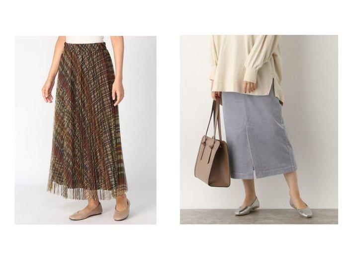 【studio CLIP/スタディオ クリップ】のチェックPTプリーツSK&【GLOBAL WORK/グローバルワーク】のコーデュロイスカート スカートのおすすめ!人気、レディースファッションの通販 おすすめファッション通販アイテム レディースファッション・服の通販 founy(ファニー) ファッション Fashion レディース WOMEN スカート Skirt プリーツスカート Pleated Skirts ギャザー チェック チュール プリント プリーツ コーデュロイ ストレッチ スリット タイトスカート バランス フロント ベーシック ボックス ボトム 人気 |ID:crp329100000001553