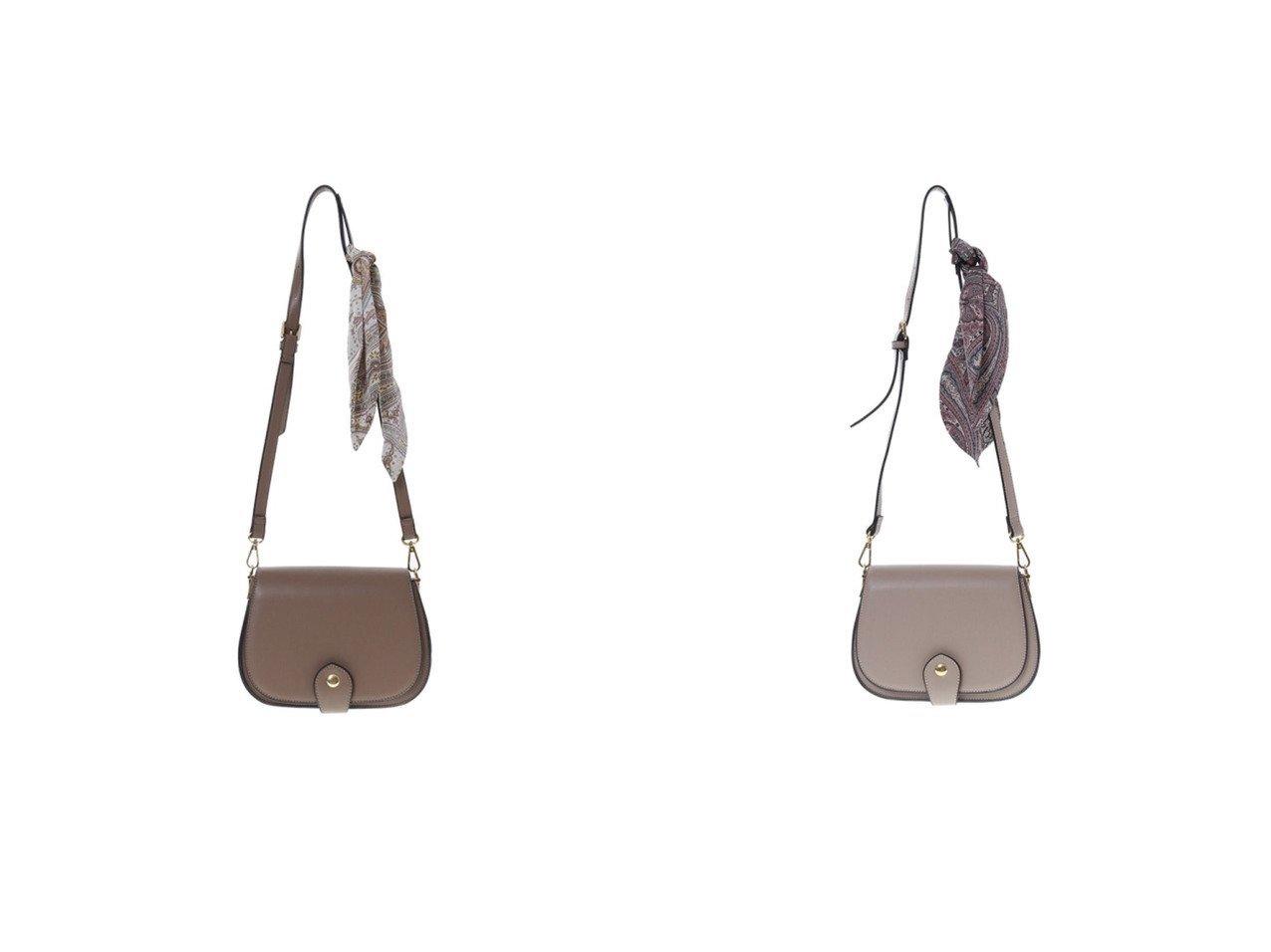 【31 Sons de mode/トランテアン ソン ドゥ モード】の【バッグ】スカーフ付きミニショルダーバッグ バッグのおすすめ!人気、レディースファッションの通販 おすすめで人気のファッション通販商品 インテリア・家具・キッズファッション・メンズファッション・レディースファッション・服の通販 founy(ファニー) https://founy.com/ ファッション Fashion レディース WOMEN バッグ Bag ヴィンテージ スカーフ センター ポケット 冬 Winter |ID:crp329100000001632