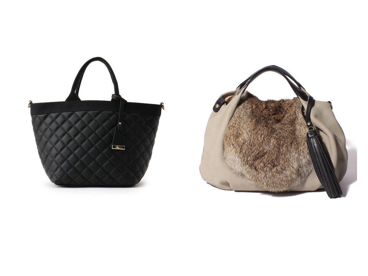 【allureville/アルアバイル】の【VIOLAd ORO (ヴィオラドーロ)】 LEPRE FUR&【UNTITLED/アンタイトル】のシュリンクキルトトートバッグ バッグのおすすめ!人気、レディースファッションの通販 おすすめで人気のファッション通販商品 インテリア・家具・キッズファッション・メンズファッション・レディースファッション・服の通販 founy(ファニー) https://founy.com/ ファッション Fashion レディース WOMEN バッグ Bag キルティング ポケット ラップ チャーム ハンドバッグ |ID:crp329100000001639