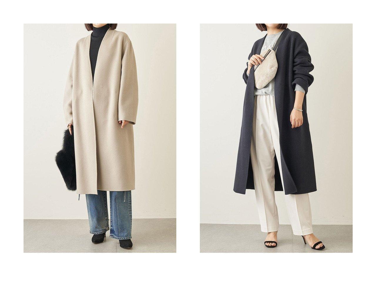 【Whim Gazette/ウィムガゼット】のINTESPRAリバーコート アウターのおすすめ!人気、レディースファッションの通販 おすすめで人気のファッション通販商品 インテリア・家具・キッズファッション・メンズファッション・レディースファッション・服の通販 founy(ファニー) https://founy.com/ ファッション Fashion レディース WOMEN アウター Coat Outerwear コート Coats イタリア カシミア ショルダー ドロップ バランス ベーシック ロング  ID:crp329100000001644