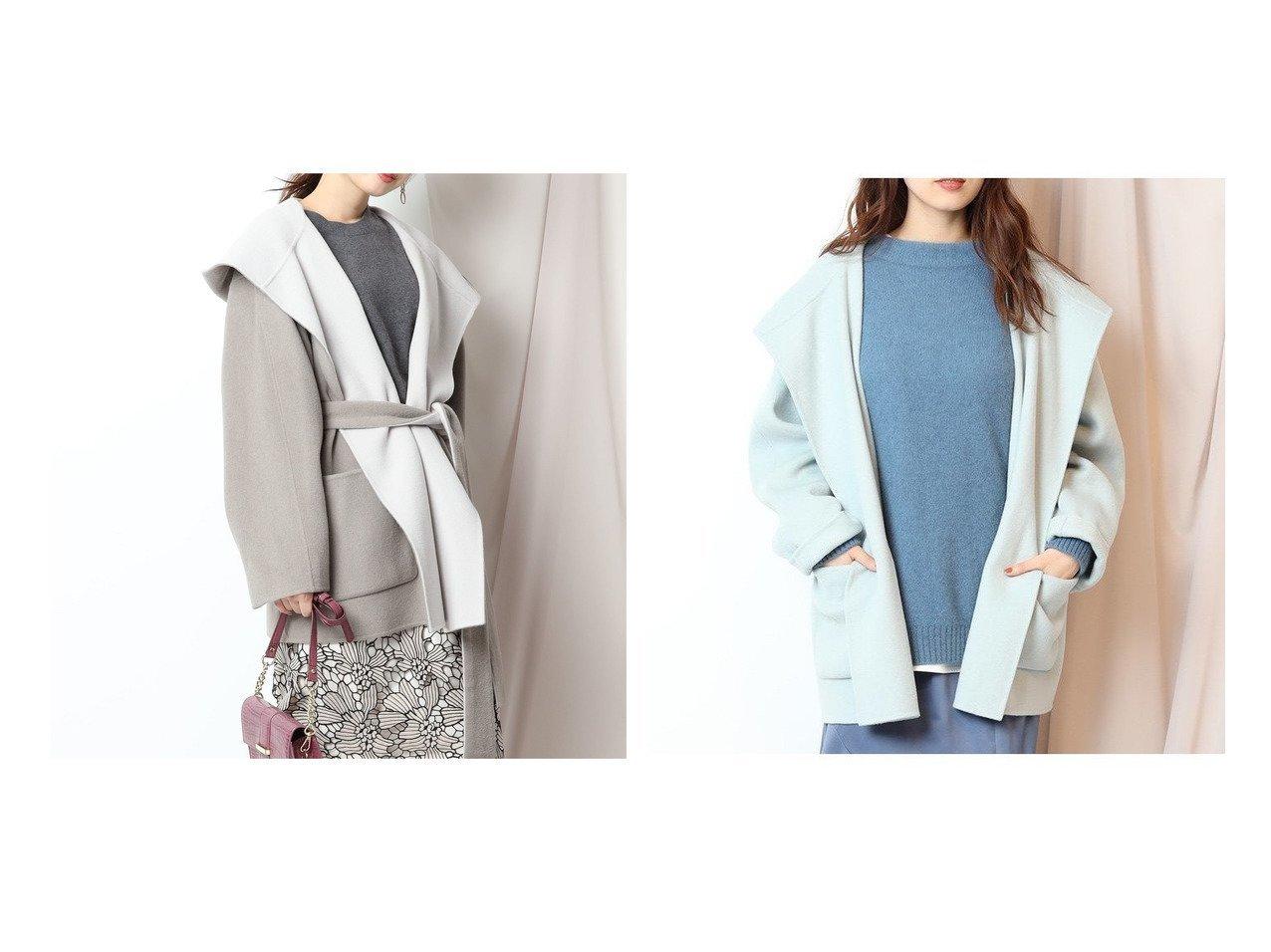【Mystrada/マイストラーダ】のビックフードショートコート アウターのおすすめ!人気、レディースファッションの通販 おすすめで人気のファッション通販商品 インテリア・家具・キッズファッション・メンズファッション・レディースファッション・服の通販 founy(ファニー) https://founy.com/ ファッション Fashion レディース WOMEN アウター Coat Outerwear コート Coats フェミニン マニッシュ リバーシブル リボン  ID:crp329100000001651