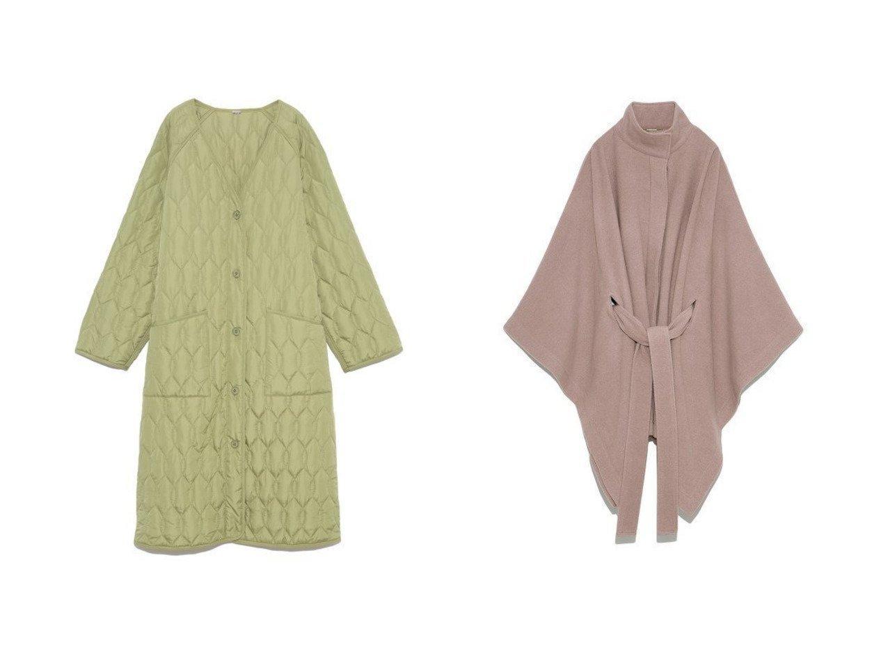 【Mila Owen/ミラオーウェン】のキルティングガウンコート&【SNIDEL/スナイデル】のスタンドカラーポンチョコート アウターのおすすめ!人気、レディースファッションの通販 おすすめで人気のファッション通販商品 インテリア・家具・キッズファッション・メンズファッション・レディースファッション・服の通販 founy(ファニー) https://founy.com/ ファッション Fashion レディース WOMEN アウター Coat Outerwear コート Coats ジャケット Jackets ノーカラージャケット No Collar Leather Jackets ポンチョ Ponchos インナー ジャケット スマート スリット 冬 Winter 秋 今季 シンプル スタンド トレンド バランス パイピング フレア リュクス ロング  ID:crp329100000001656