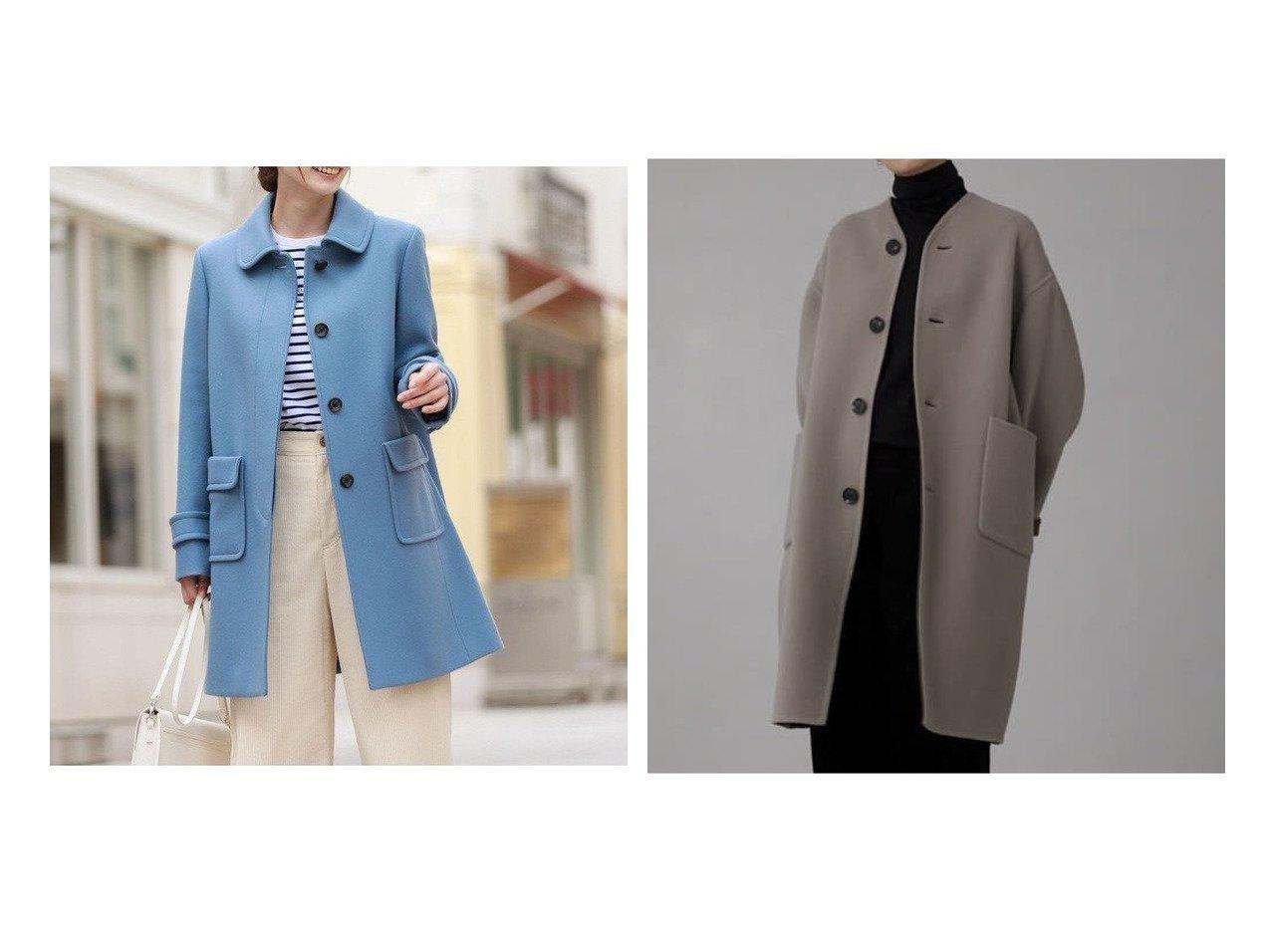 【MACKINTOSH PHILOSOPHY/マッキントッシュ フィロソフィー】のメルトンステンカラーコート&【kagure/かぐれ】のLe GLAZIK REVERSIBLE COAT アウターのおすすめ!人気、レディースファッションの通販 おすすめで人気のファッション通販商品 インテリア・家具・キッズファッション・メンズファッション・レディースファッション・服の通販 founy(ファニー) https://founy.com/ ファッション Fashion レディース WOMEN アウター Coat Outerwear コート Coats ジャケット Jackets ノーカラージャケット No Collar Leather Jackets カシミヤ コンパクト ショール フェミニン メルトン 人気 定番 ジャケット フランス ポケット ワイド  ID:crp329100000001662