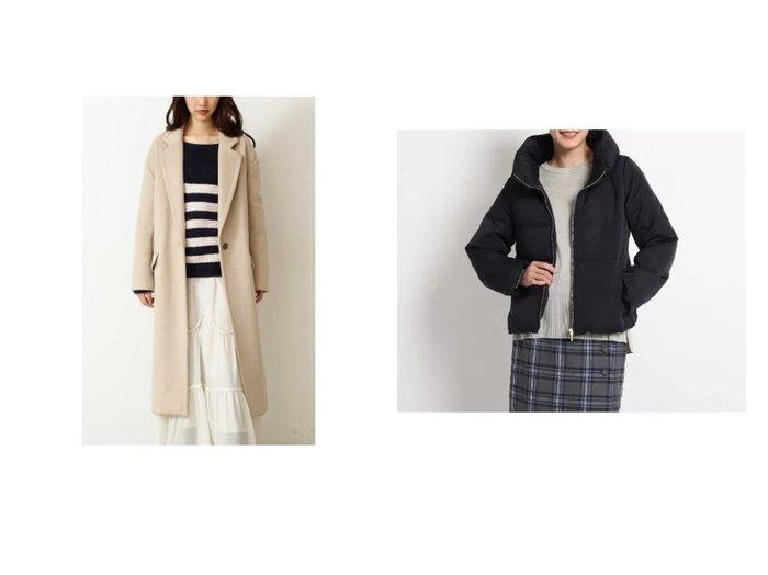 【Dessin/デッサン】のピーチスキンダウンコート&【FREE'S MART/フリーズマート】のウール混オーバーチェスターコート アウターのおすすめ!人気、レディースファッションの通販 おすすめファッション通販アイテム レディースファッション・服の通販 founy(ファニー) ファッション Fashion レディース WOMEN アウター Coat Outerwear コート Coats チェスターコート Top Coat ダウン Down Coats And Jackets ショルダー チェスターコート ドロップ ポケット ショート ダウン ボトム 定番 |ID:crp329100000001718