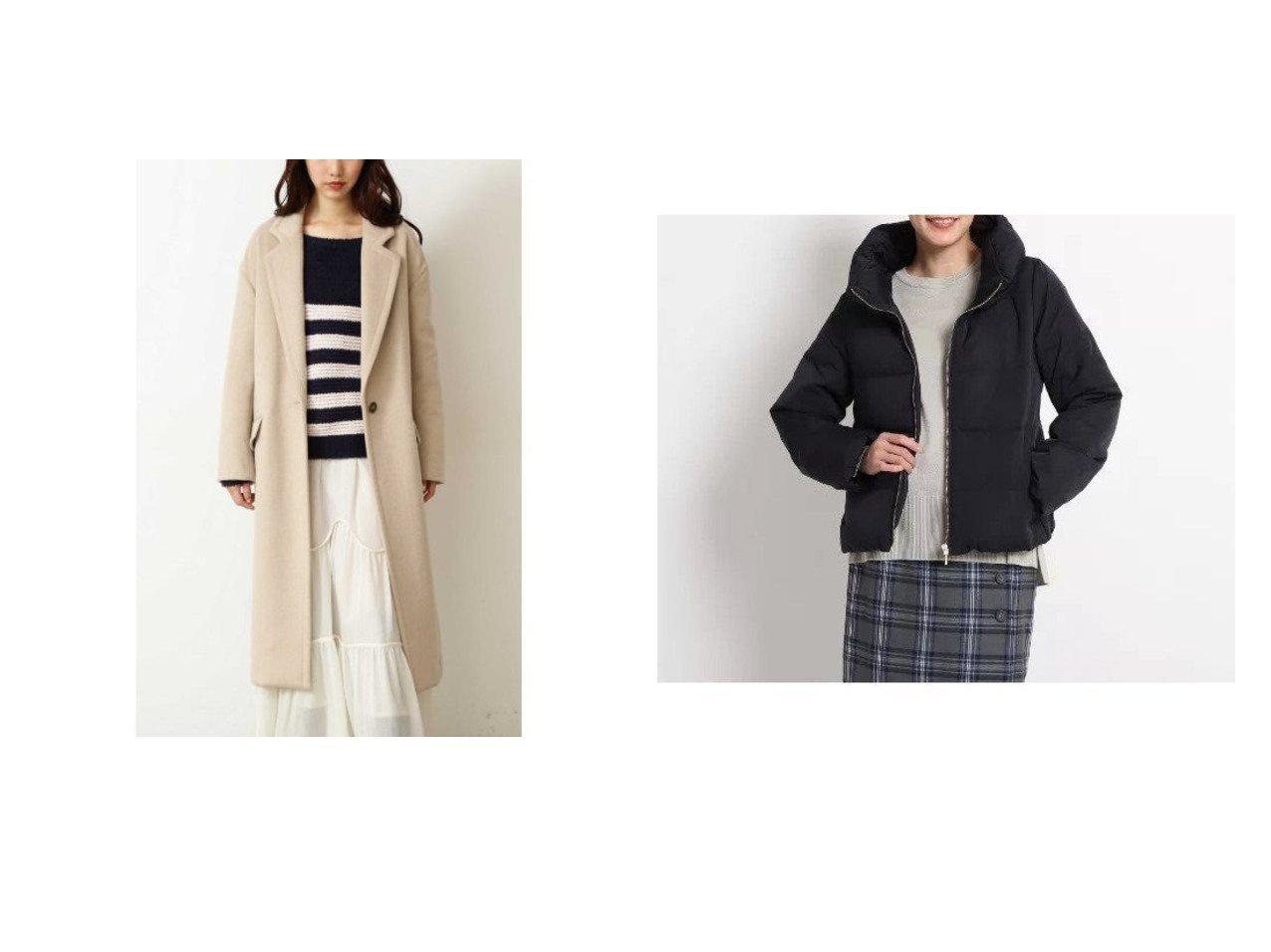 【Dessin/デッサン】のピーチスキンダウンコート&【FREE'S MART/フリーズマート】のウール混オーバーチェスターコート アウターのおすすめ!人気、レディースファッションの通販 おすすめで人気のファッション通販商品 インテリア・家具・キッズファッション・メンズファッション・レディースファッション・服の通販 founy(ファニー) https://founy.com/ ファッション Fashion レディース WOMEN アウター Coat Outerwear コート Coats チェスターコート Top Coat ダウン Down Coats And Jackets ショルダー チェスターコート ドロップ ポケット ショート ダウン ボトム 定番 |ID:crp329100000001718