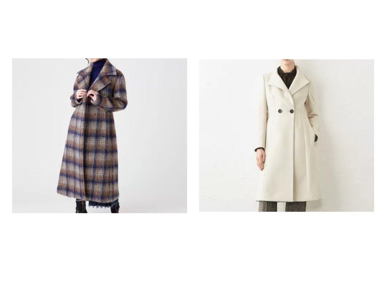 【EPOCA/エポカ】のチェックシャギーコート&ウールクロスコート アウターのおすすめ!人気、レディースファッションの通販 おすすめで人気のファッション通販商品 インテリア・家具・キッズファッション・メンズファッション・レディースファッション・服の通販 founy(ファニー) https://founy.com/ ファッション Fashion レディース WOMEN アウター Coat Outerwear コート Coats イタリア |ID:crp329100000001731