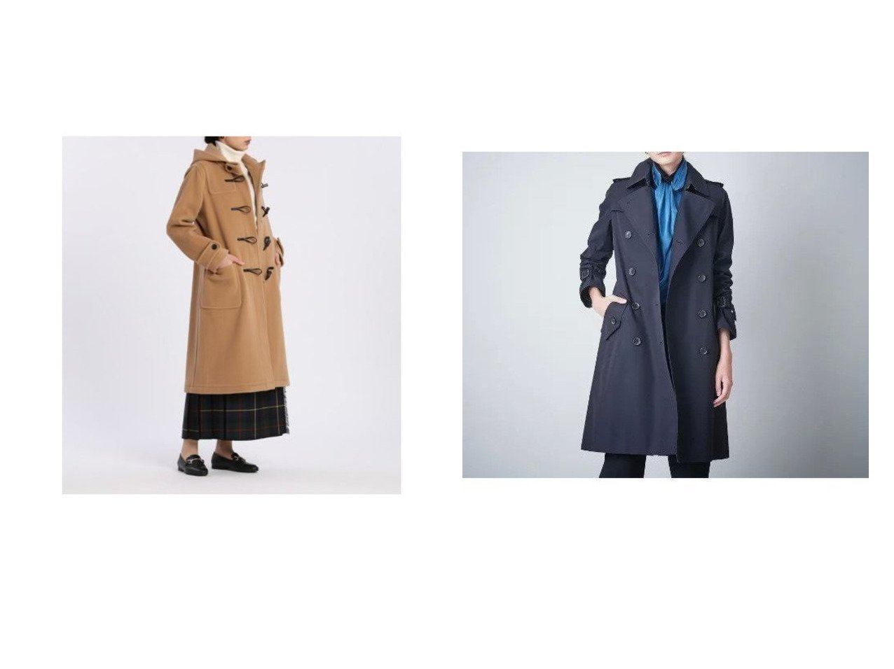 【INED/イネド】の《Maison de Beige》ダッフルコート&【SANYO/サンヨー】のダブルトレンチコート アウターのおすすめ!人気、レディースファッションの通販 おすすめで人気のファッション通販商品 インテリア・家具・キッズファッション・メンズファッション・レディースファッション・服の通販 founy(ファニー) https://founy.com/ ファッション Fashion レディース WOMEN アウター Coat Outerwear コート Coats ダッフルコート Duffle Coats トレンチコート Trench Coats ダッフルコート ポケット 定番 エレガント スタンダード ダブル プリーツ ライナー リバーシブル |ID:crp329100000001740